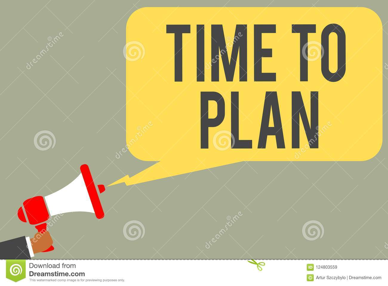Conceptual hand writing showing Time To Plan. Business photo text Preparation of things Getting Ready Think other solutions Man ho