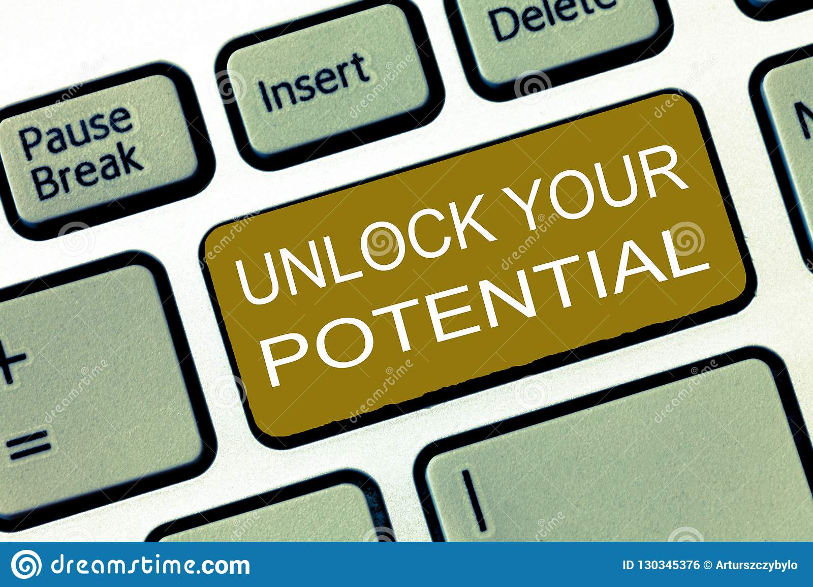Conceptual hand writing showing Unlock Your Potential question. Business photo showcasing Maximize your Ability Use God