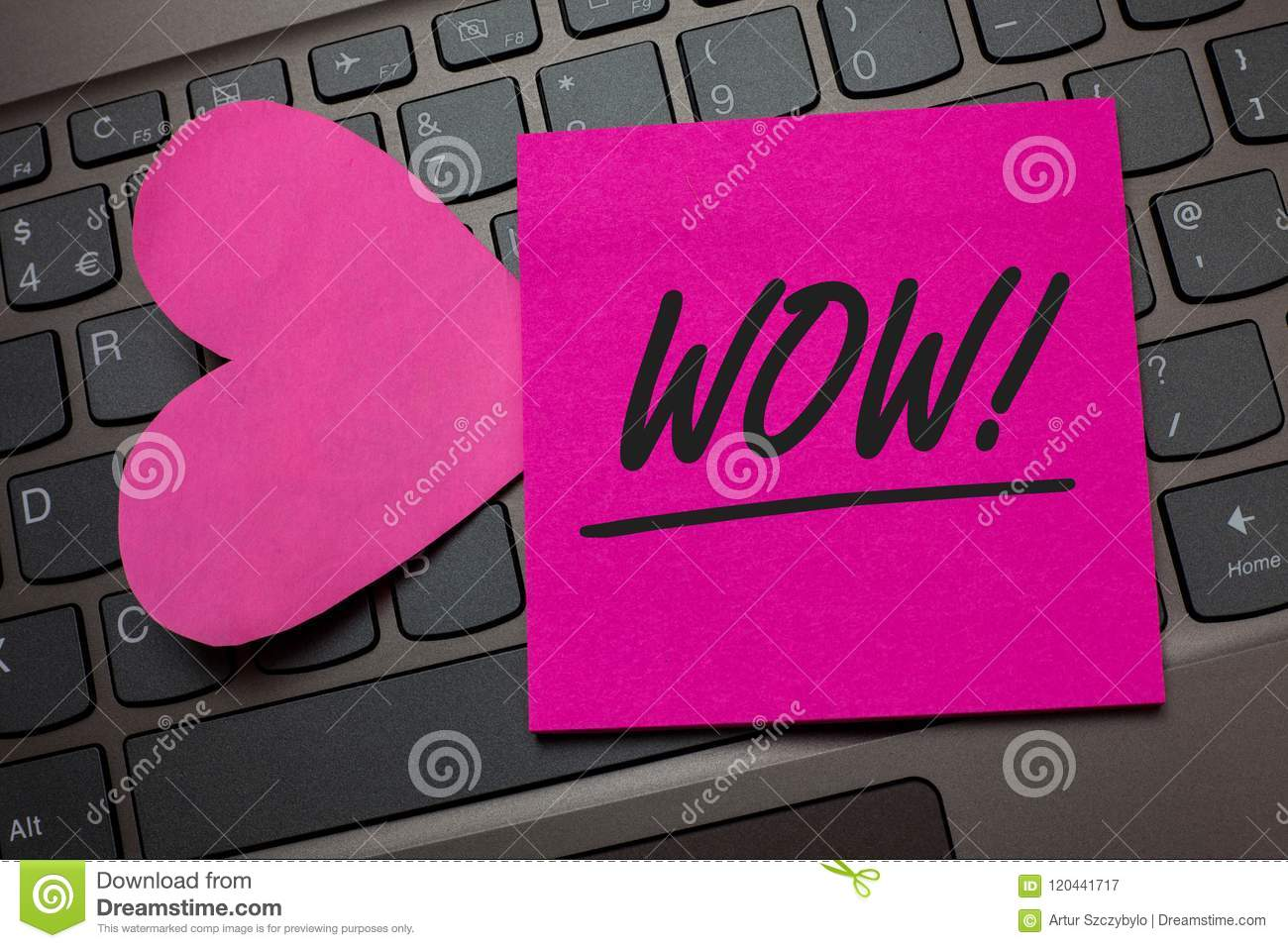 Conceptual hand writing showing Wow Motivational Call. Business photo text Expression of somebody speechless amazed overjoyed Keyb