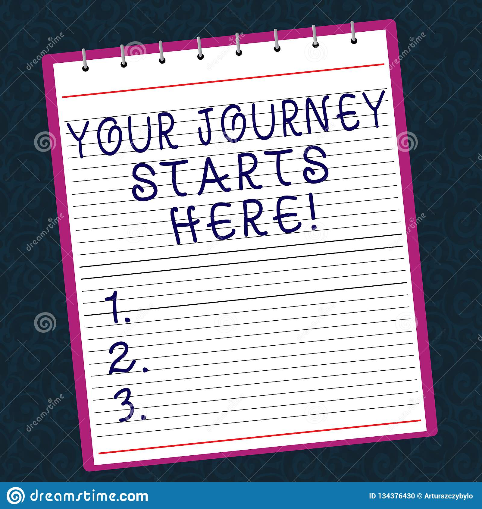 Conceptual hand writing showing Your Journey Starts Here. Business photo text Motivation for starting a business
