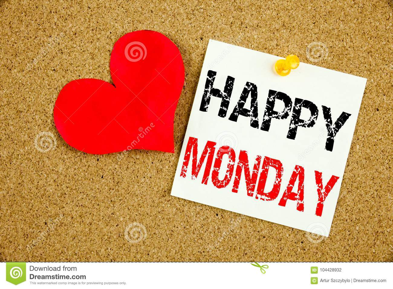 Conceptual hand writing text caption inspiration showing happy download conceptual hand writing text caption inspiration showing happy monday concept for greeting announcement and love m4hsunfo