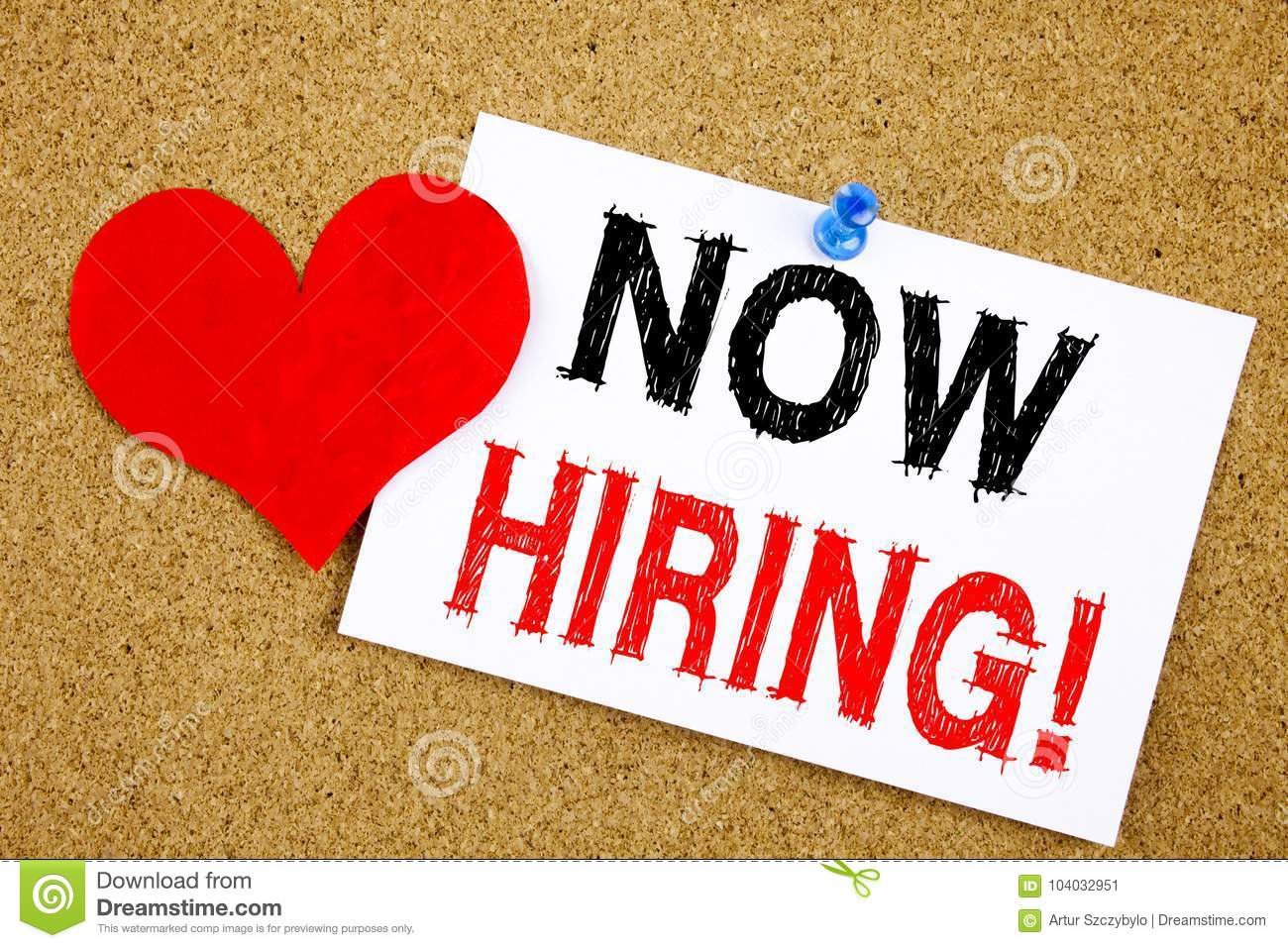 Conceptual hand writing text caption inspiration showing Now Hiring. Business concept for Recruitment and Job recruiting advertise