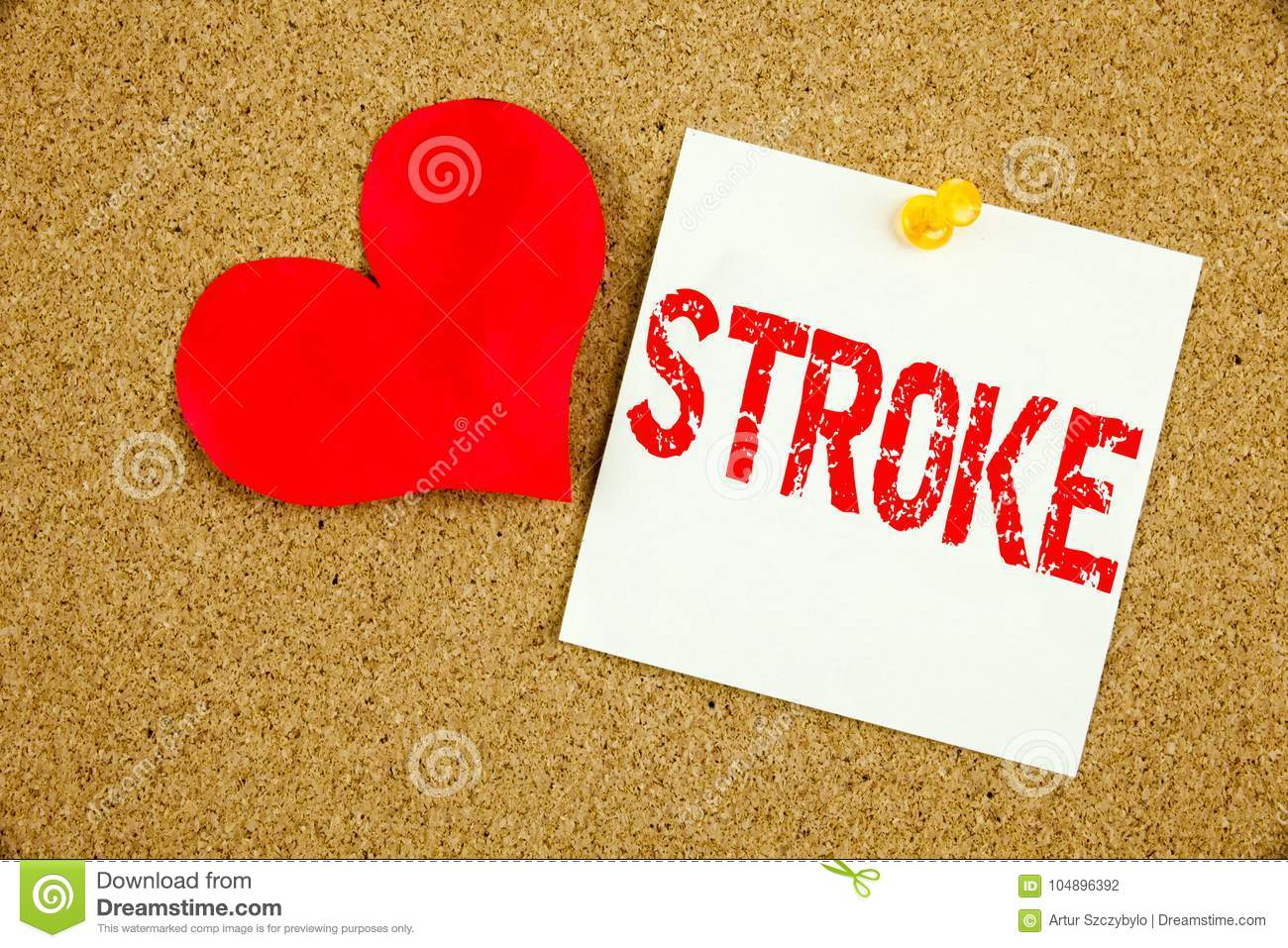 Conceptual hand writing text caption inspiration showing Stroke concept for Medicine health stethoscope illness and Love written o