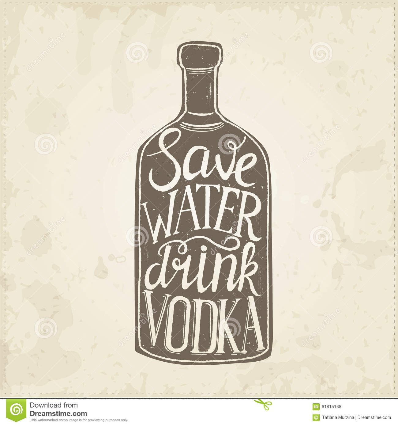 Poster design on save water - Conceptual Handwritten Phrase Save Water Drink Wine