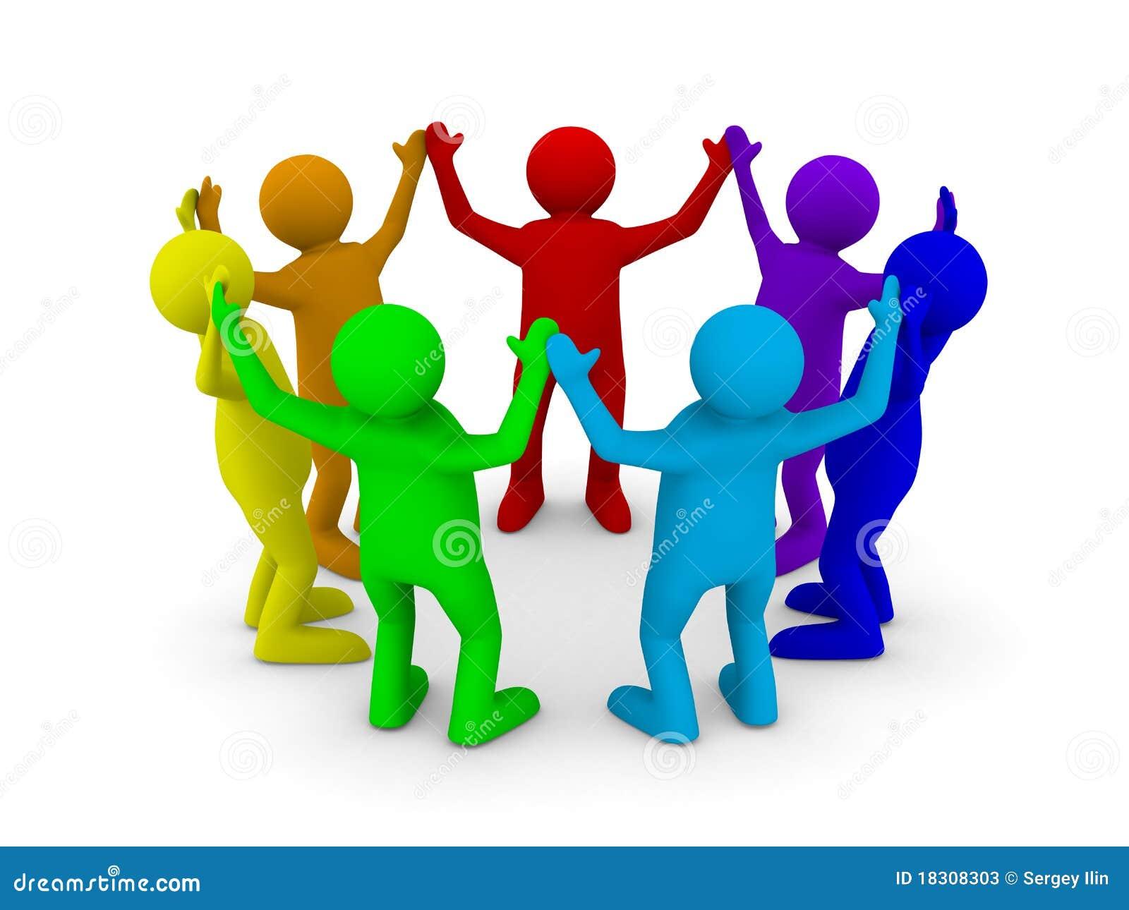 Conceptual image of teamwork stock photos image 18308303