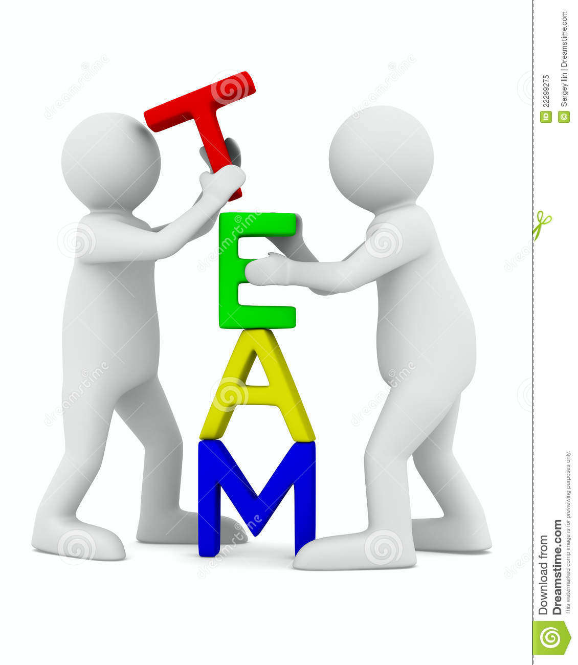 Conceptual Image Of Teamwork Royalty Free Stock Photo - Image ...