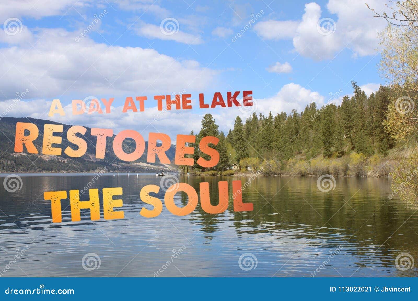 Conceptual Lake Landscape Image Stock Image Image Of Blue Quote