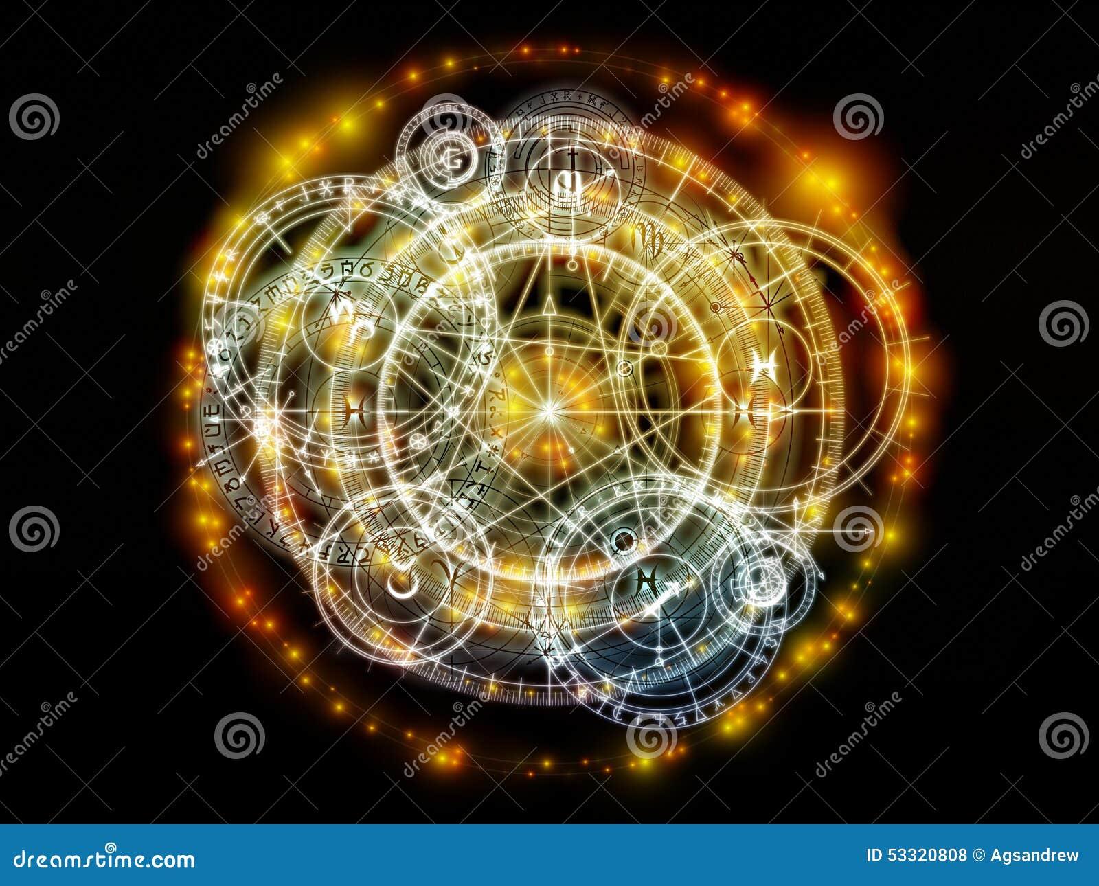 Conceptual Sacred Geometry Stock Illustration - Image
