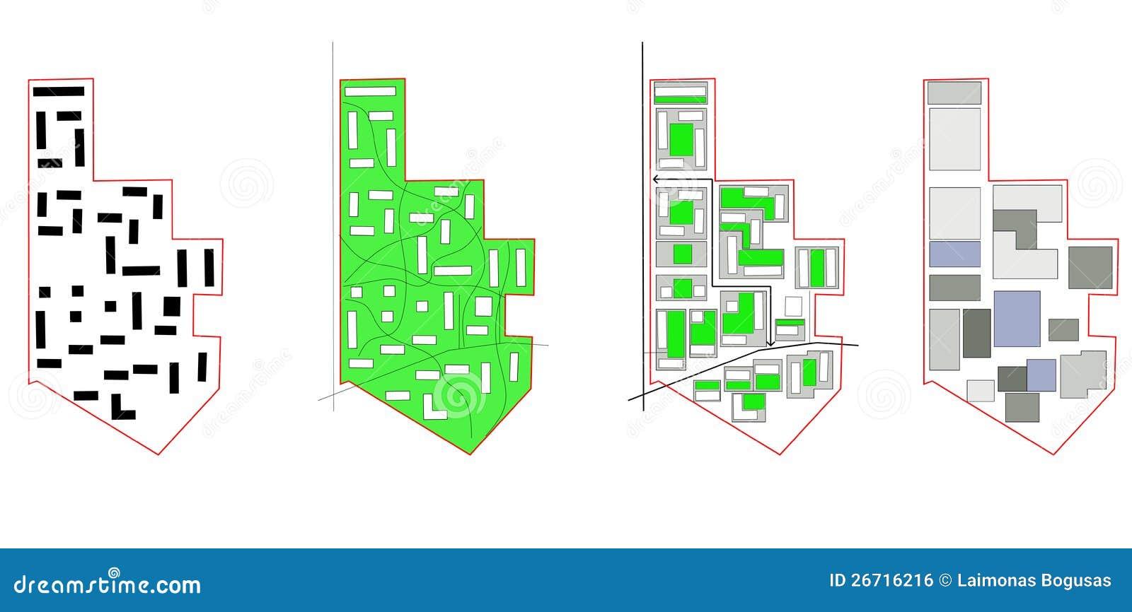 Conceptual scheme, city map