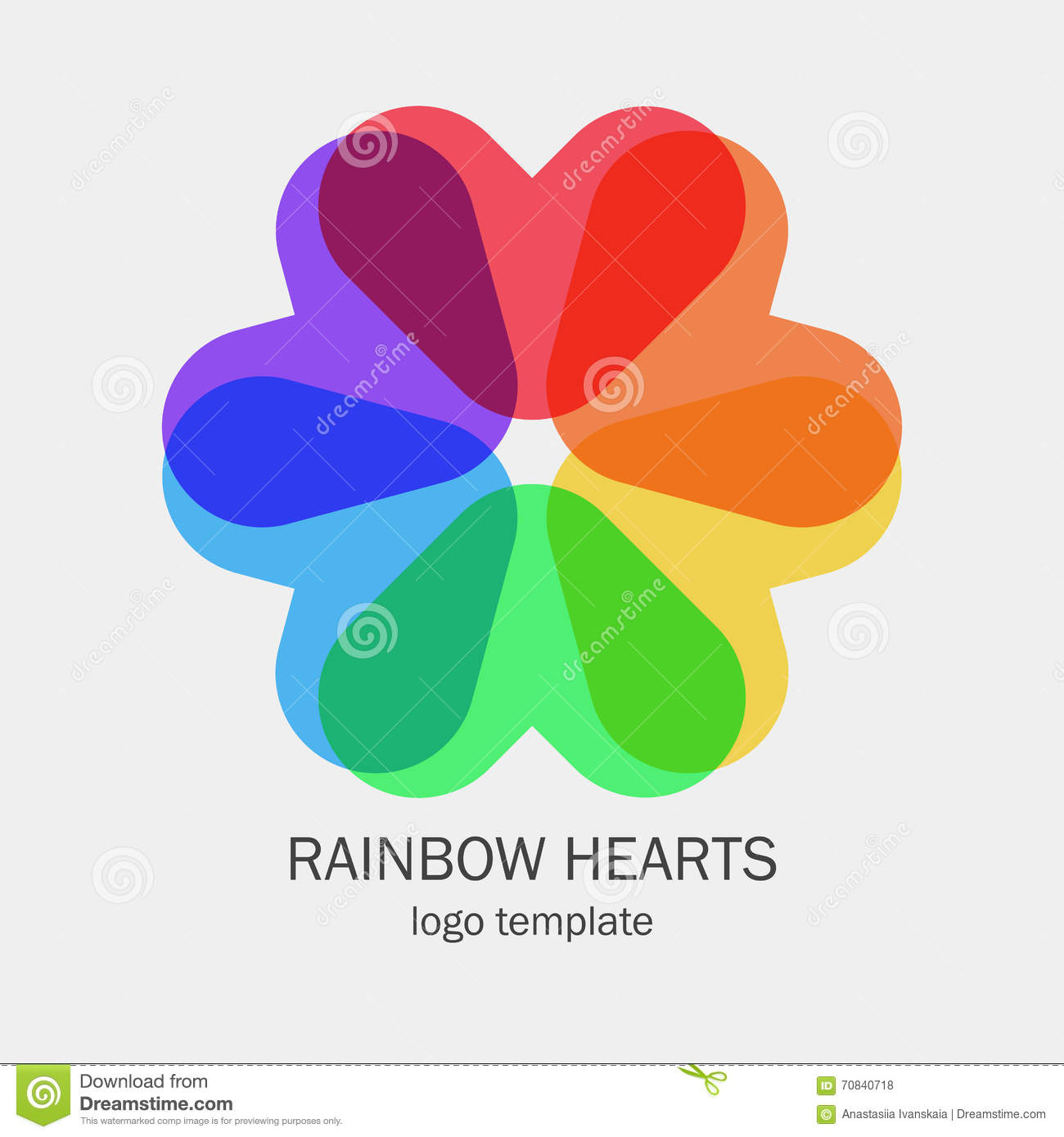 Conceptual Single Logo With A Heart Shapes Stock Photo Image Of