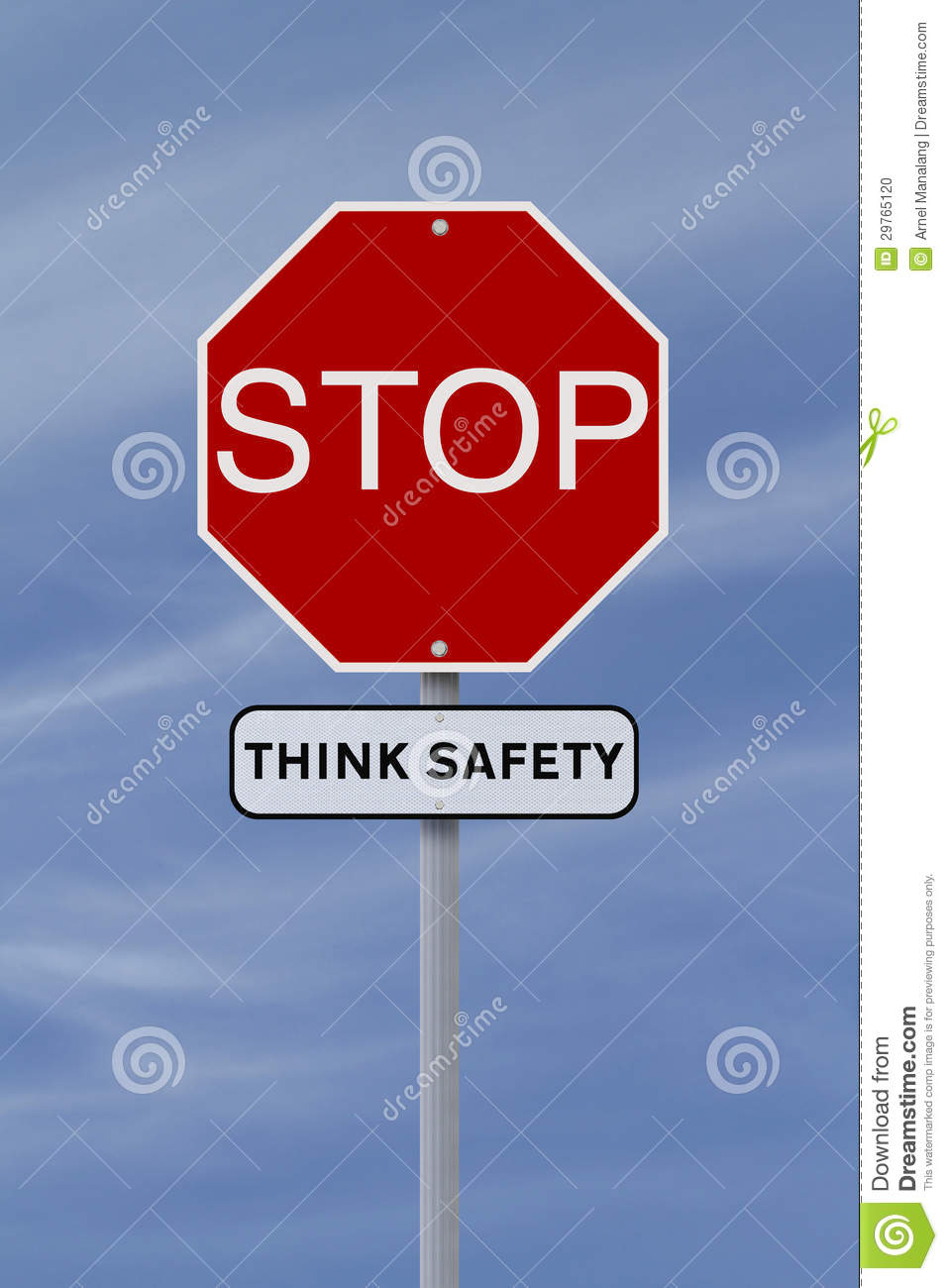 STOP_Stop: Think Safety Stock Photo - Image: 29765120