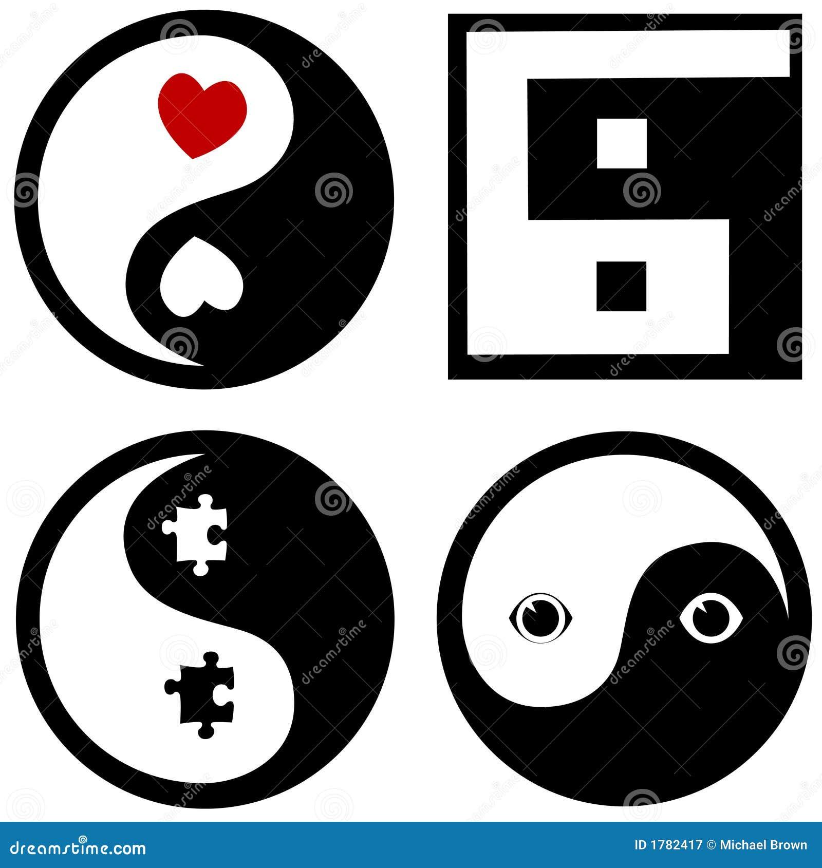 Conceptual Yinyang Symbols Stock Vector Illustration Of Balance