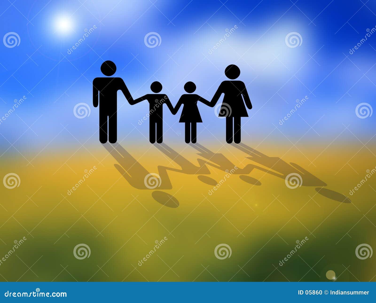 Conceptueel familiebeeld