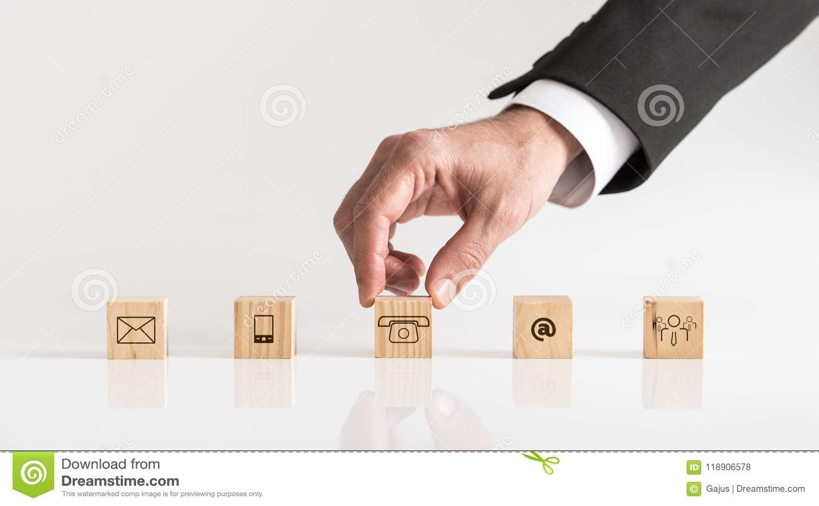 Conceptueel van mededeling en klantenondersteuning