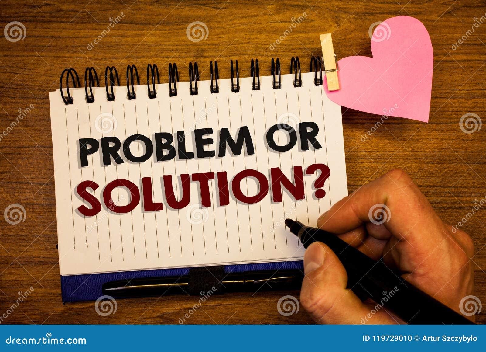 Conceptuele hand die tonend Probleem of Oplossingsvraag schrijven De bedrijfsfototekst denkt Analyse oplos die Conclusie Menselij