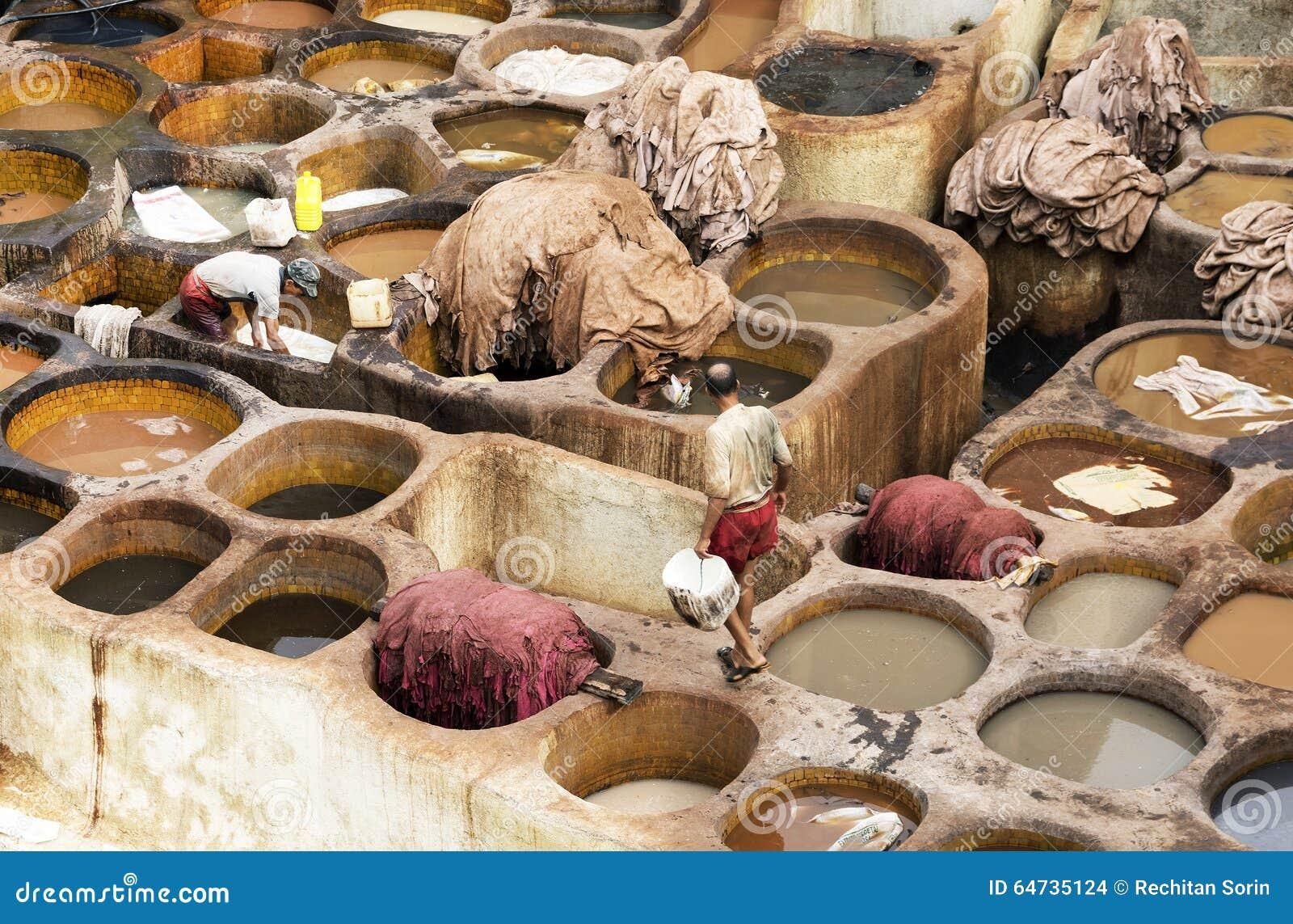 Concerie di Fes, Marocco, Africa