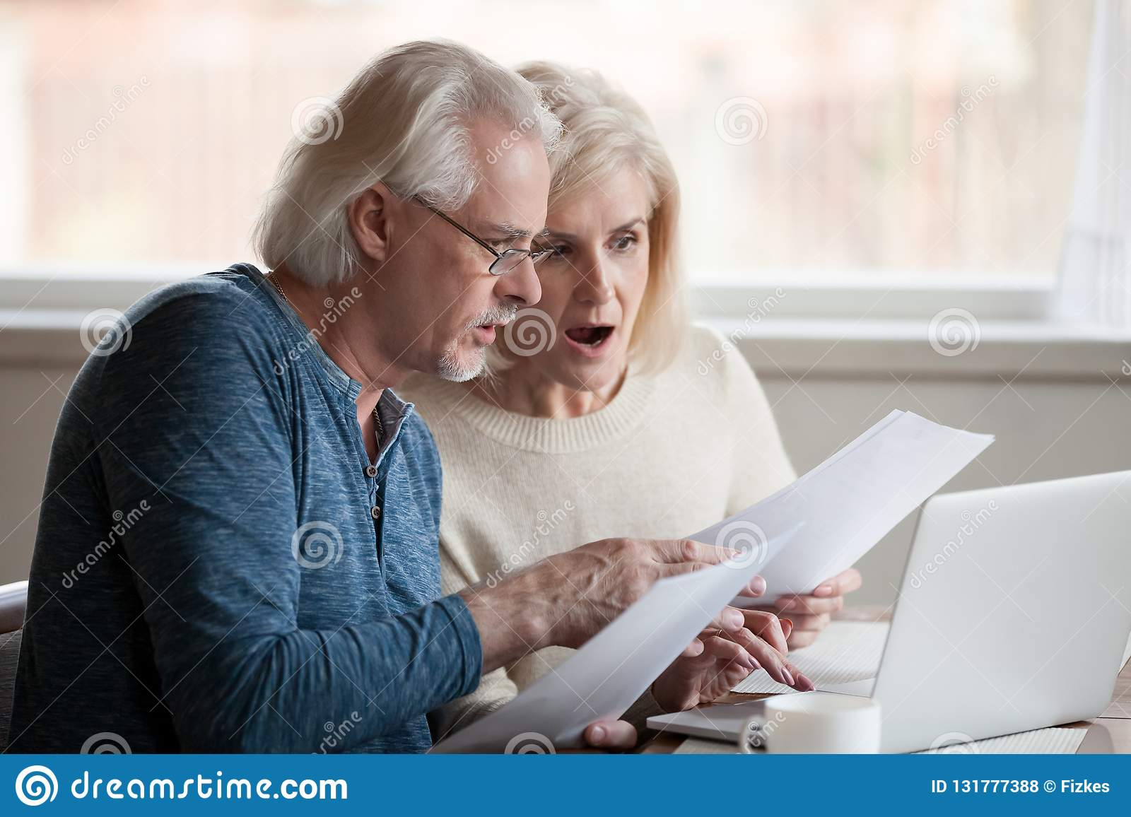 Concerned aged couple shocked by information online