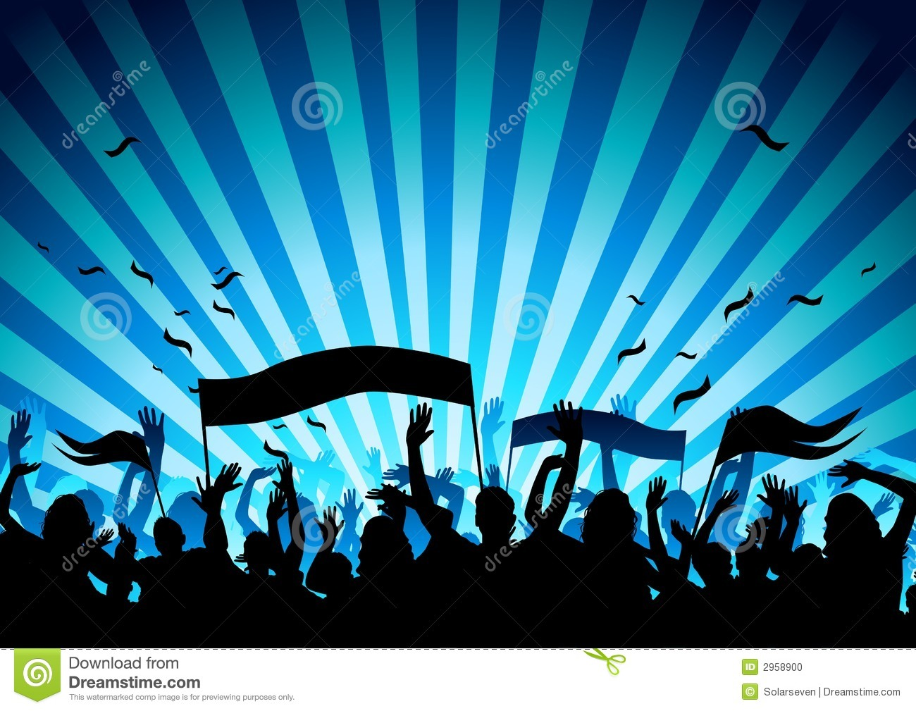 Concert Audience stock vector. Illustration of outline ...