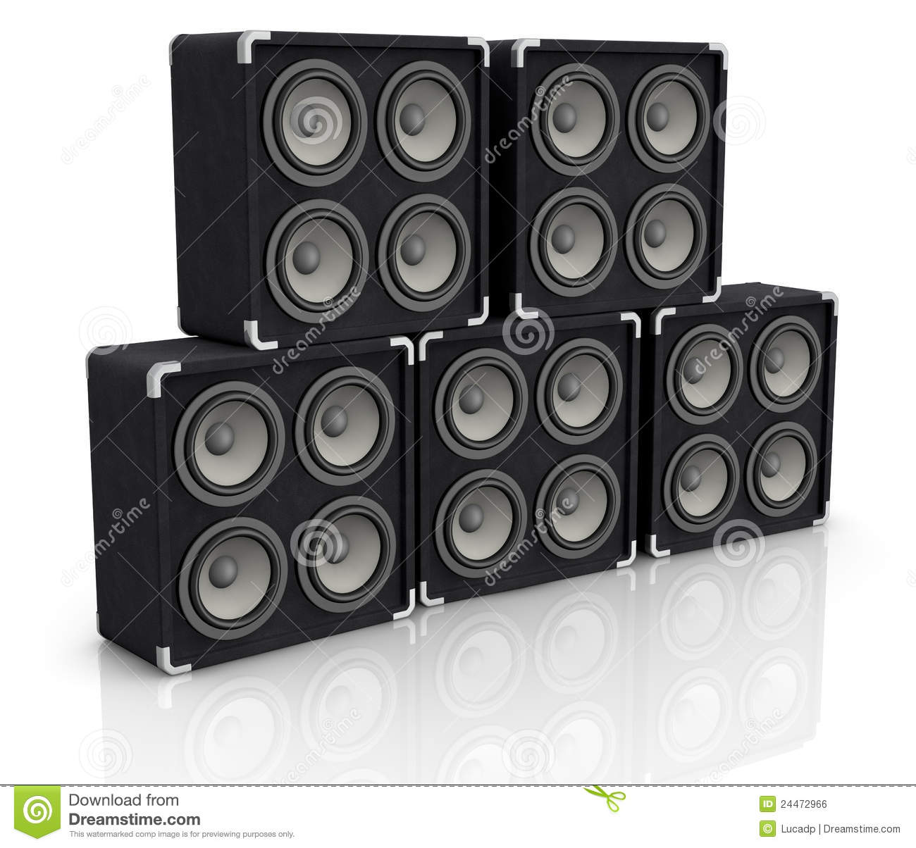 Concert Audio Speaker Royalty Free Stock Image Image