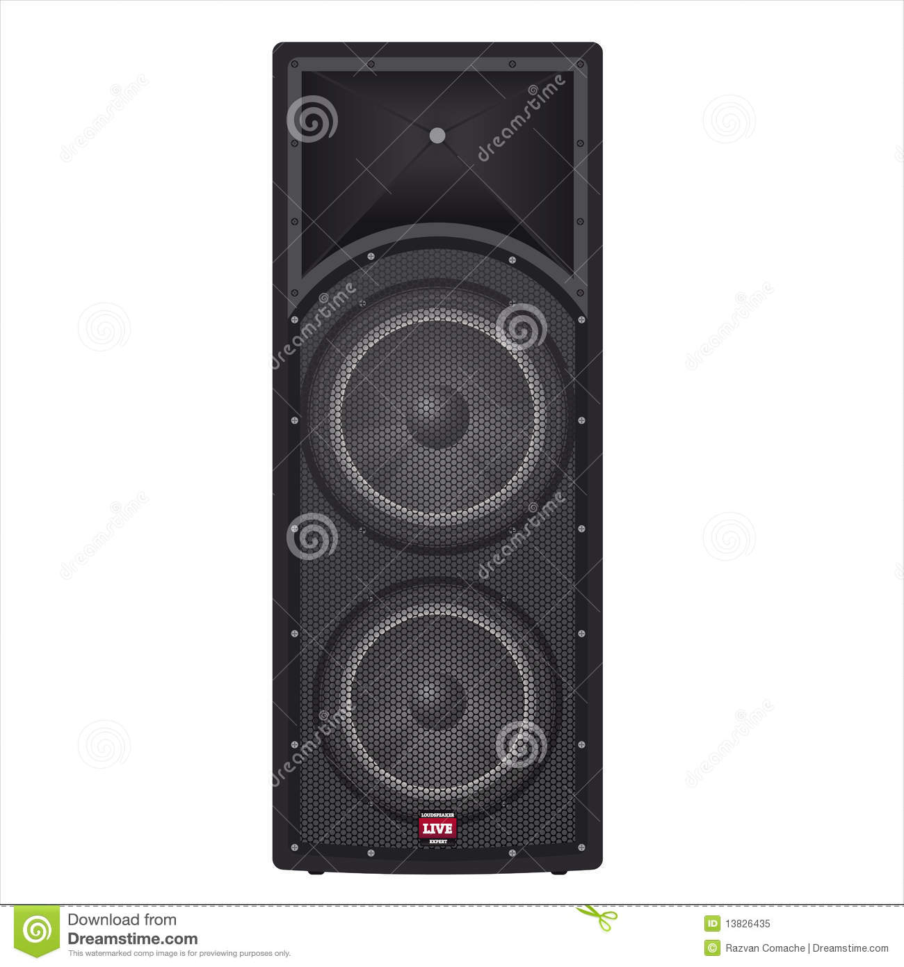 Concert Box Speakers Royalty Free Stock Photo - Image ...