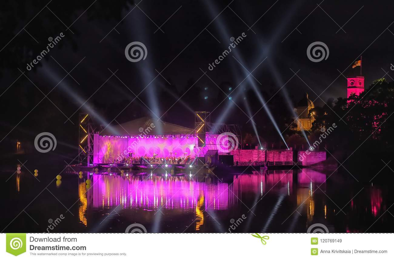 Concert of classical music in the romantic atmosphere of the ancient Gatchina Park. Festival  Night of Music , dedicated to the 1