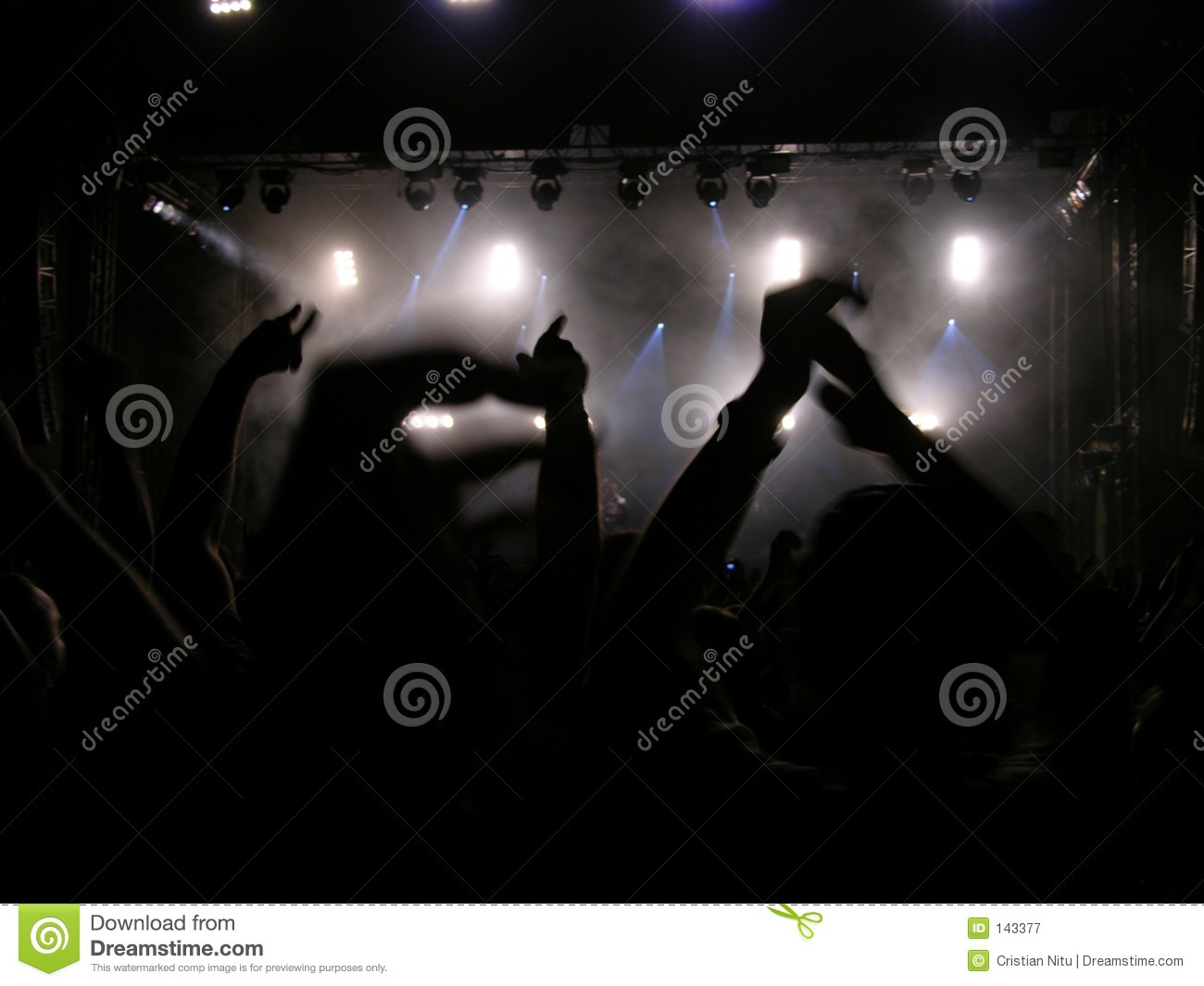 Concert everybody hands put up your