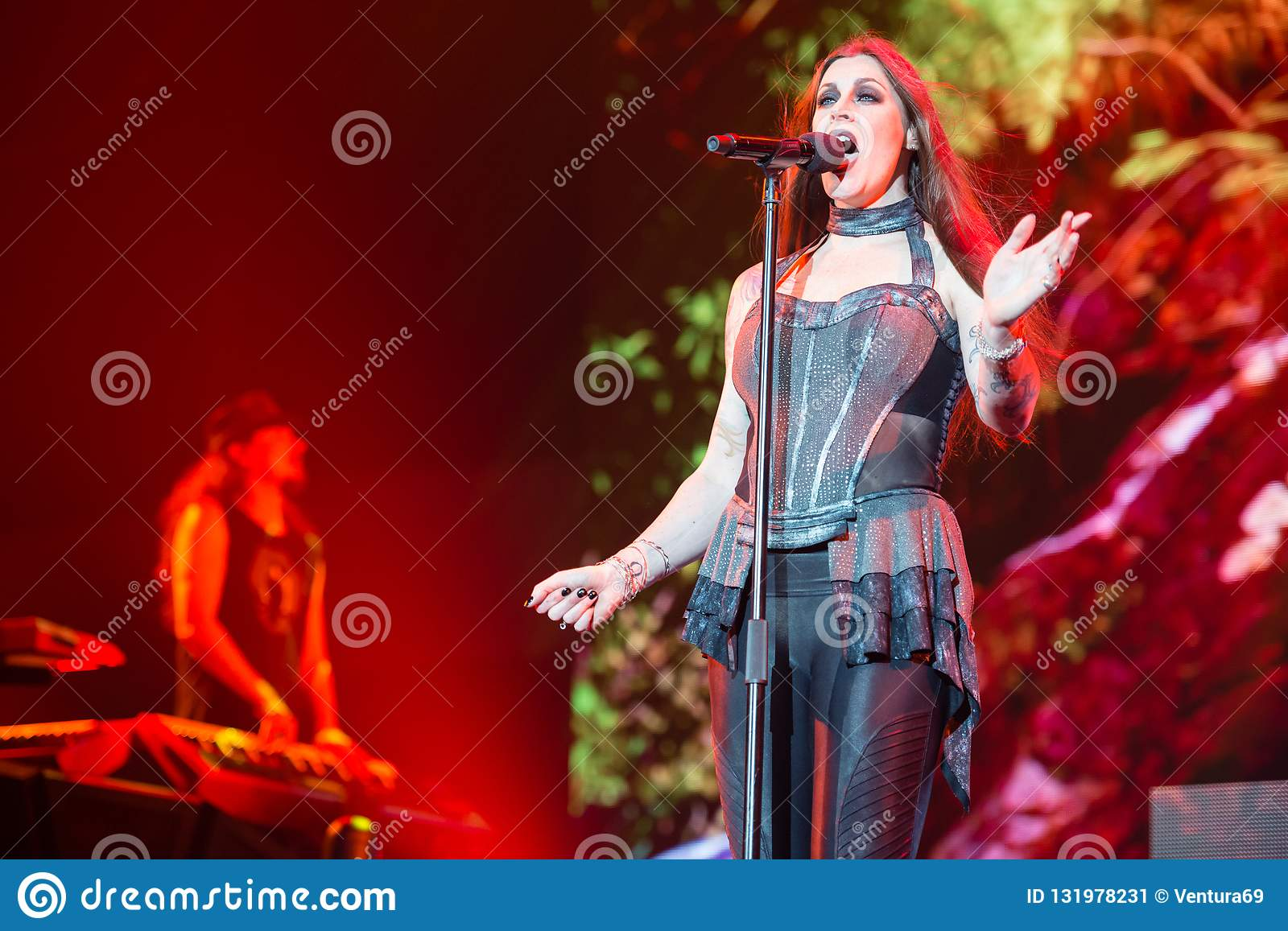 Concert Of Finnish Symphonic Metal Band Nightwish Editorial
