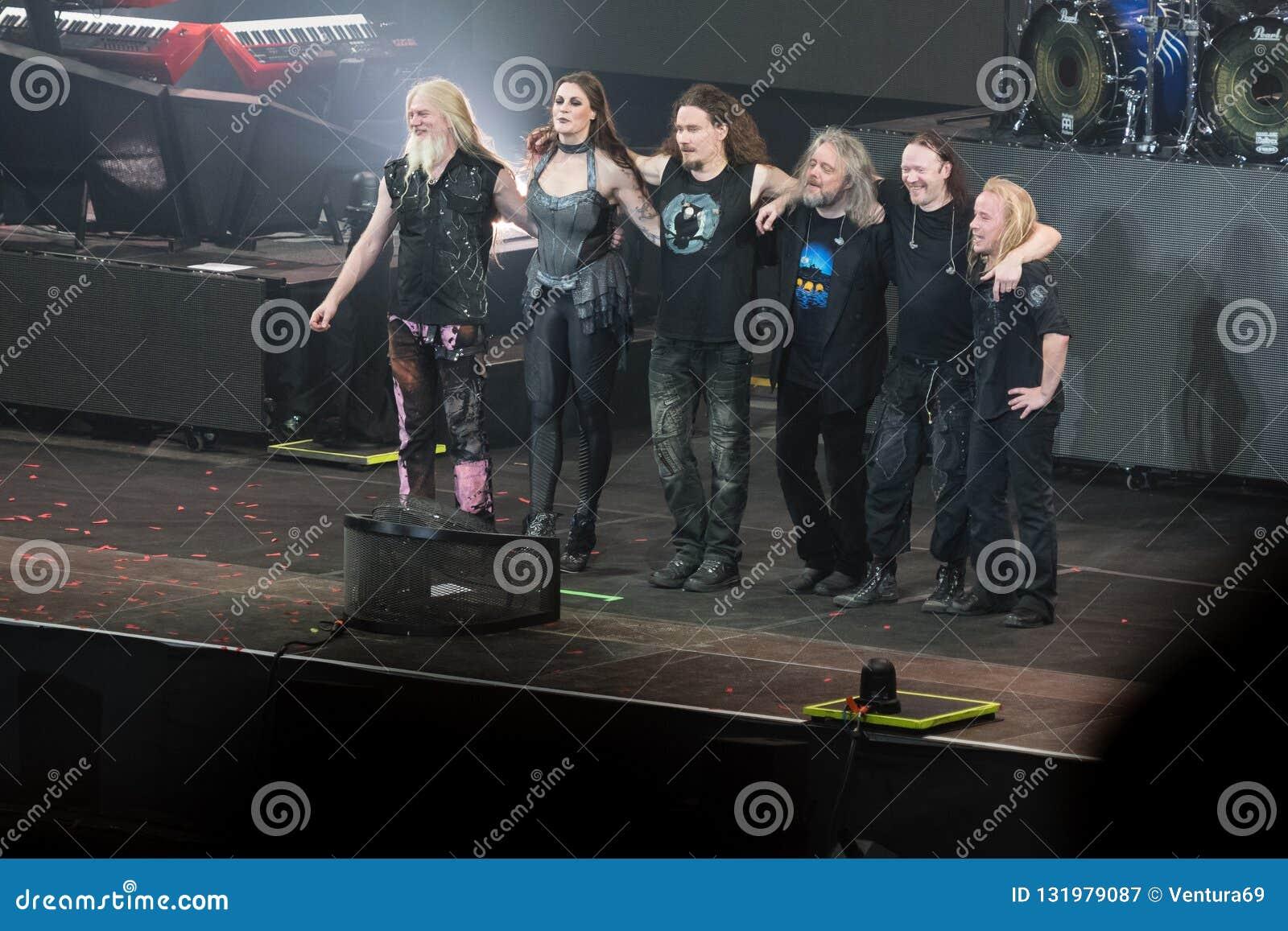 Concert Of Finnish Symphonic Metal Band Nightwish Editorial