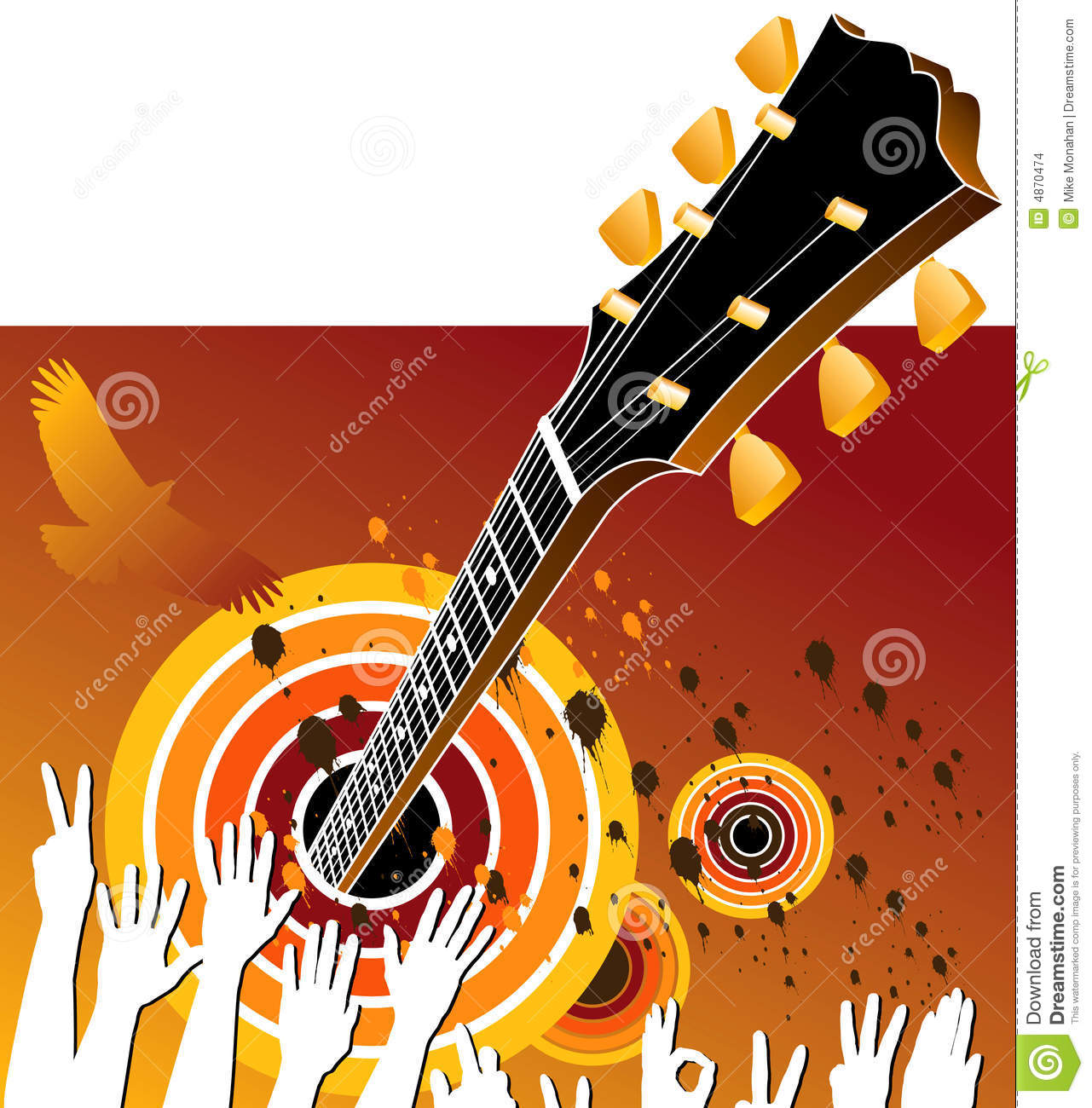 Music: Concert Music Background Stock Images