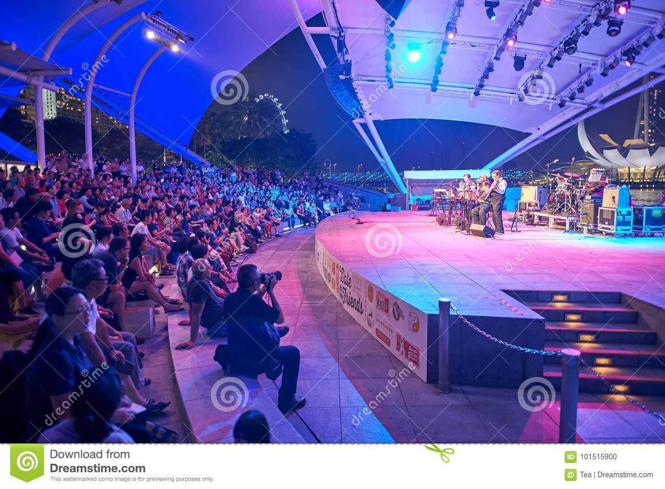 88dbe4a09 Concert at night editorial image. Image of live