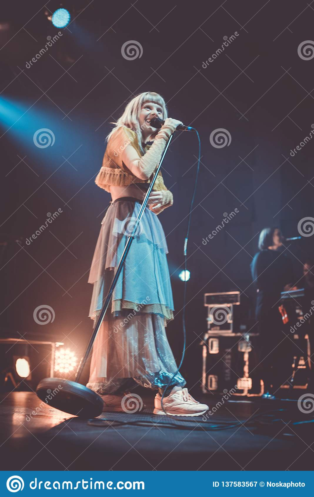 Concert singer Aurora editorial photography  Image of artist - 137583567