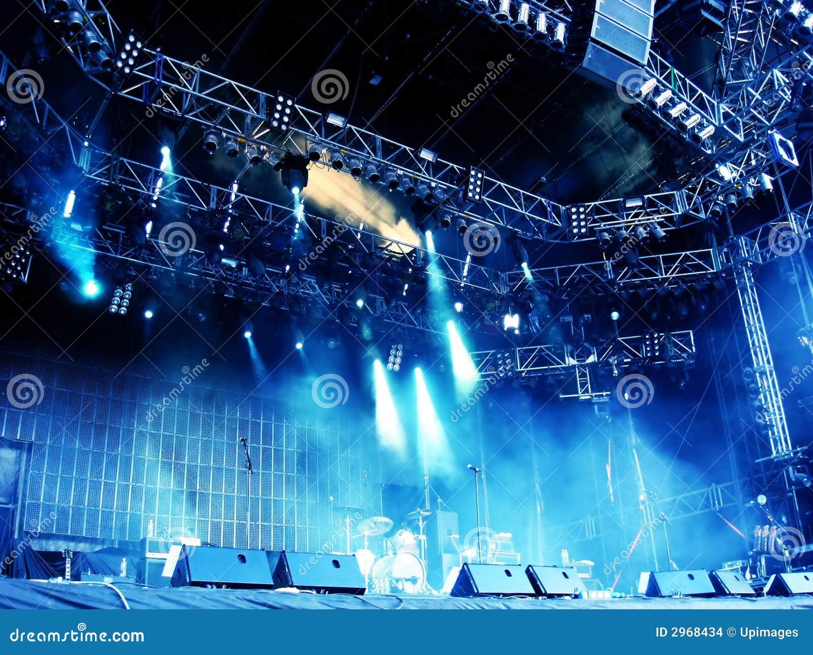 Empty outdoor rock stage - Concert Empty