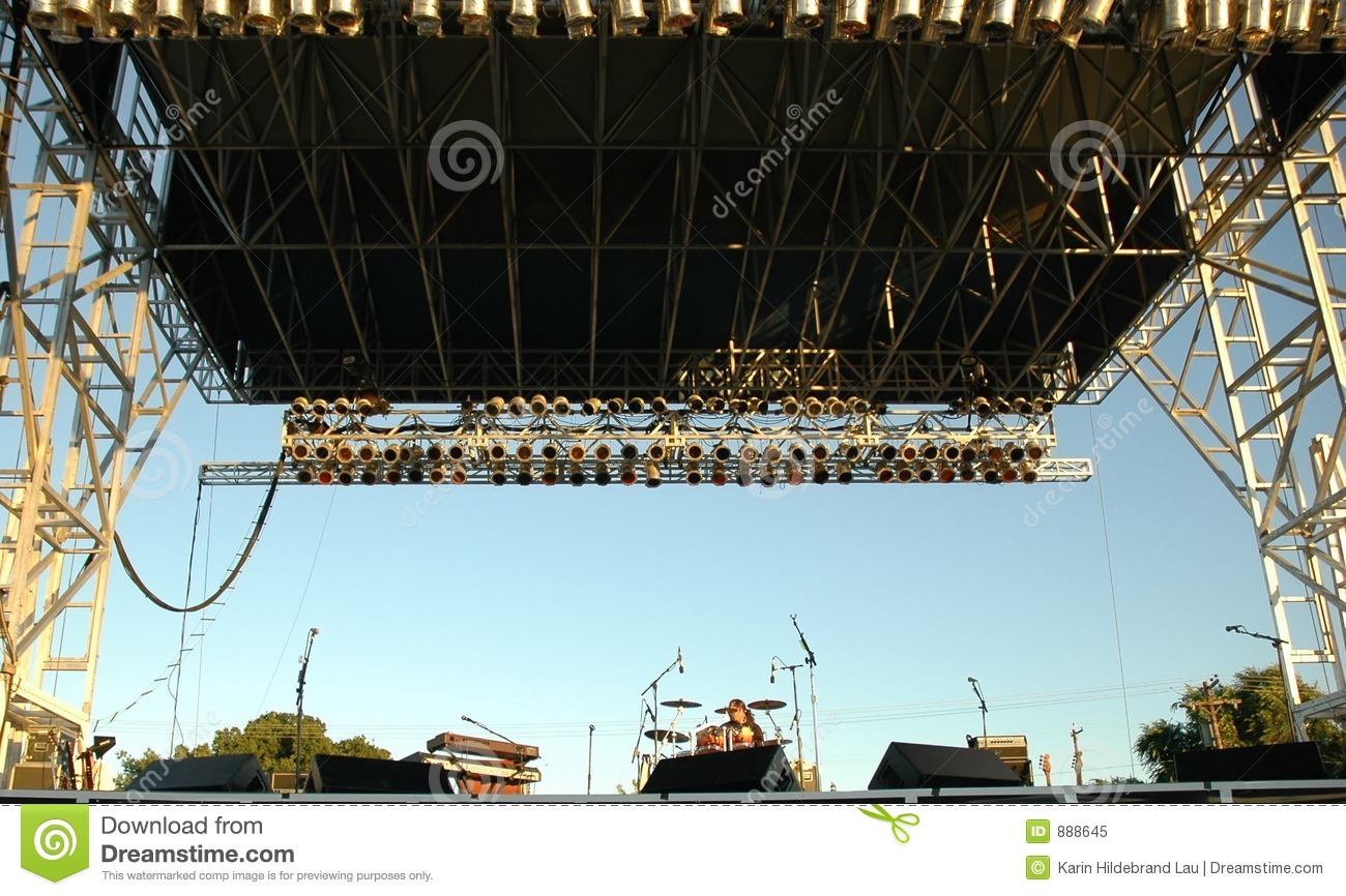 Empty outdoor rock stage - Royalty Free Stock Photo