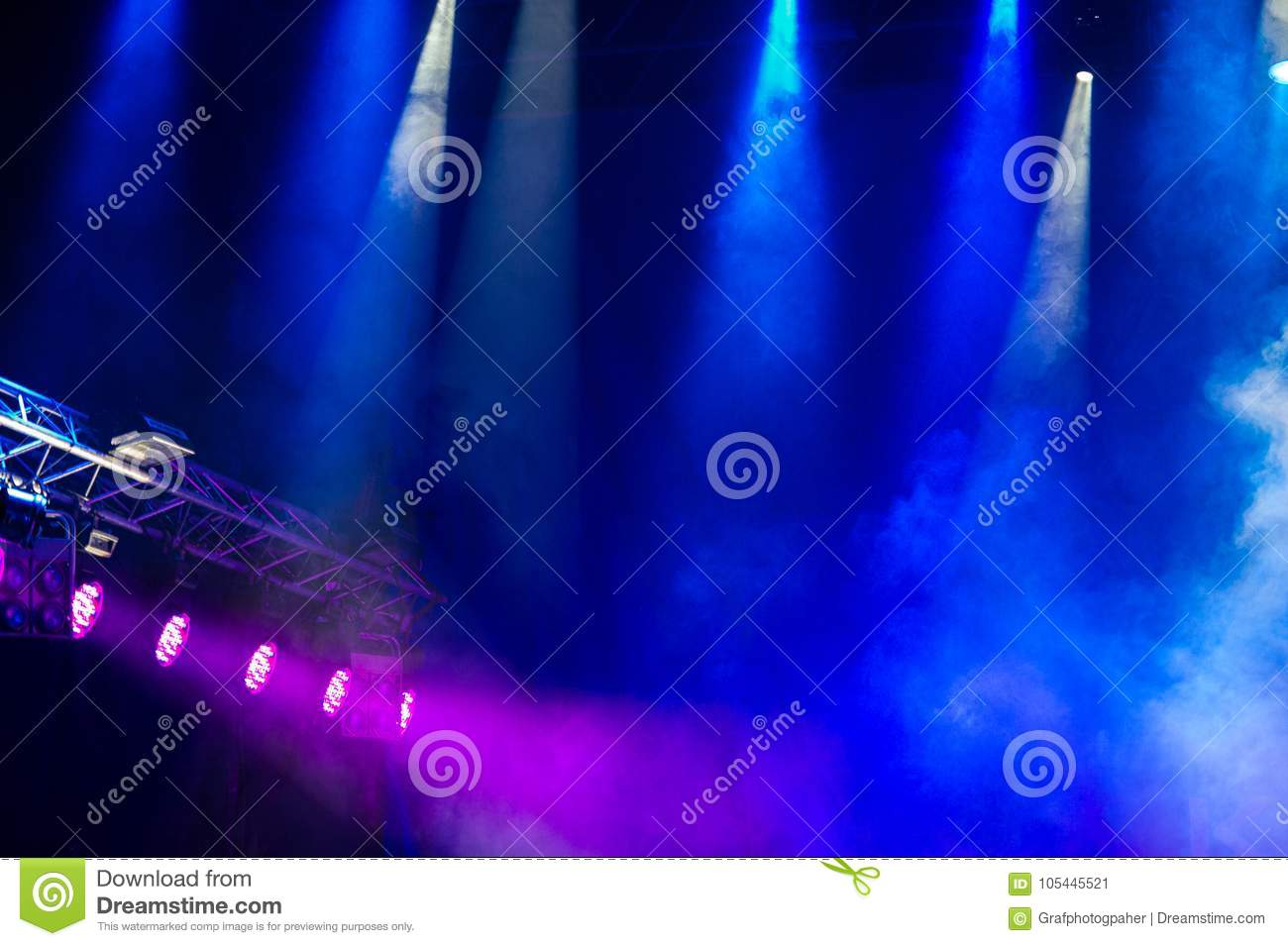 Download Concert StageStage Lights Colorful Background Of Stage Stock Image