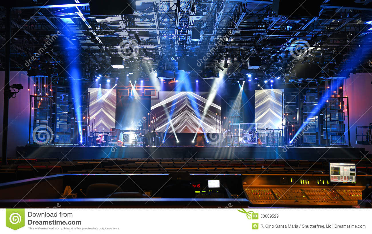 Concert Stage With Lights