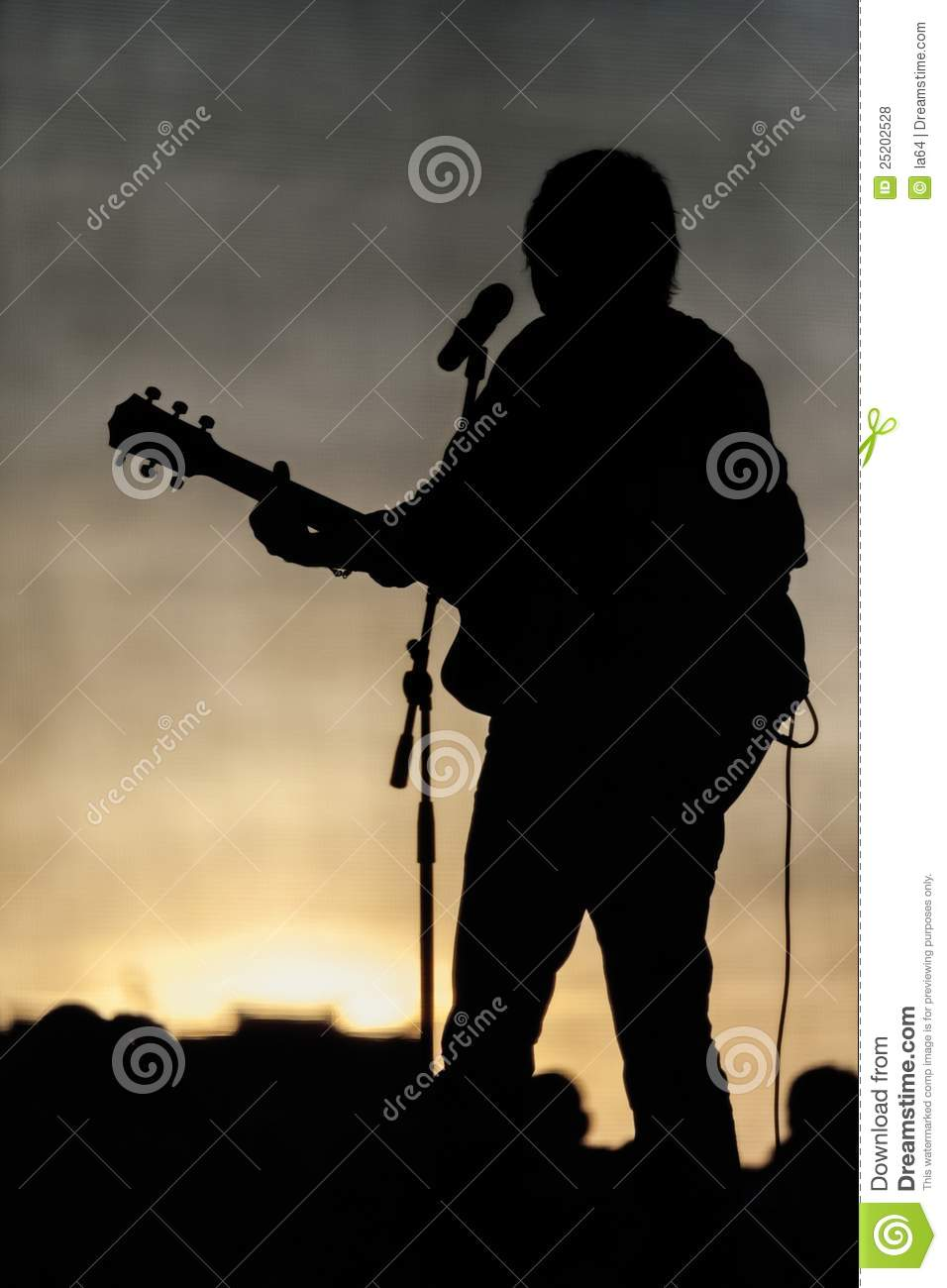 Concert Stage And Musician Silhouette Royalty Free Stock Photos ... Rock Band Silhouette