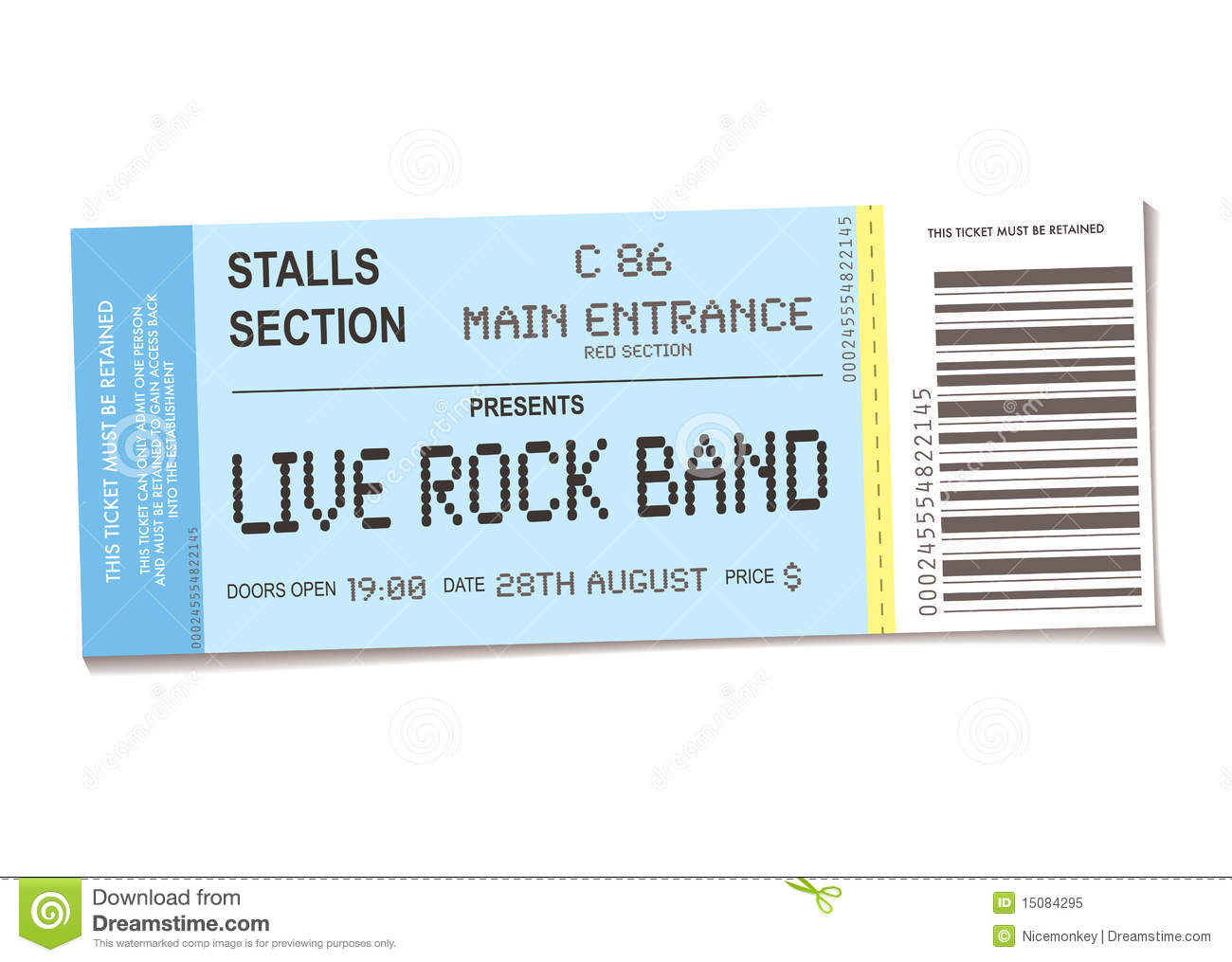 Concert Ticket  Printable Concert Ticket Template