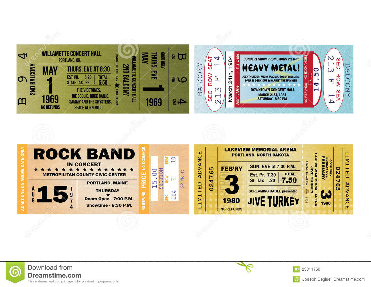 ticketmaster blank concert ticket template