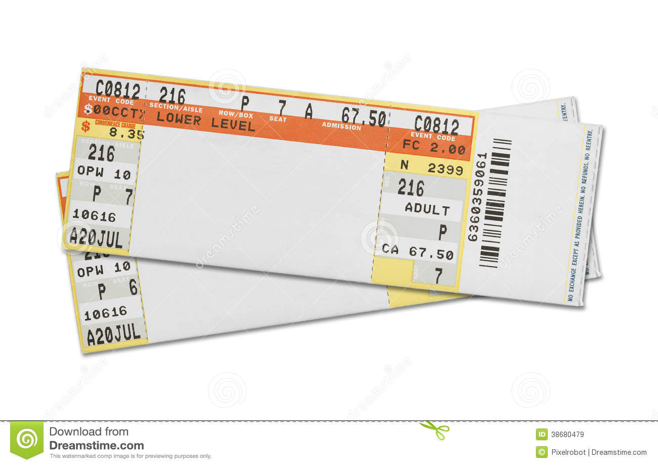 Concert Tickets Royalty Free Stock Images Image 38680479