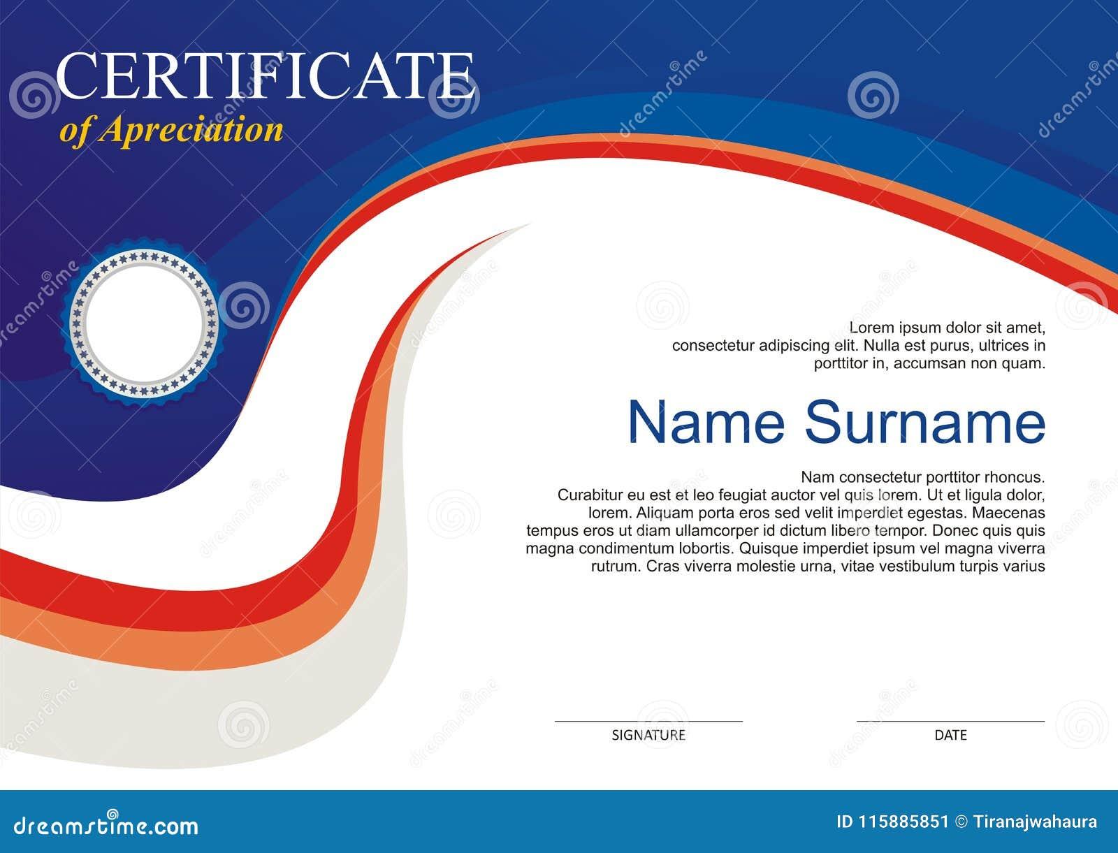 Concessão - molde do diploma com projeto moderno
