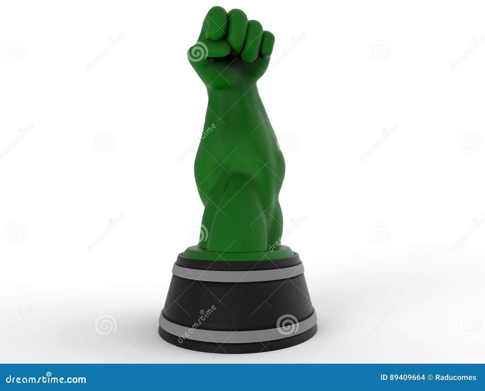 Concessão verde/troféu do braço forte