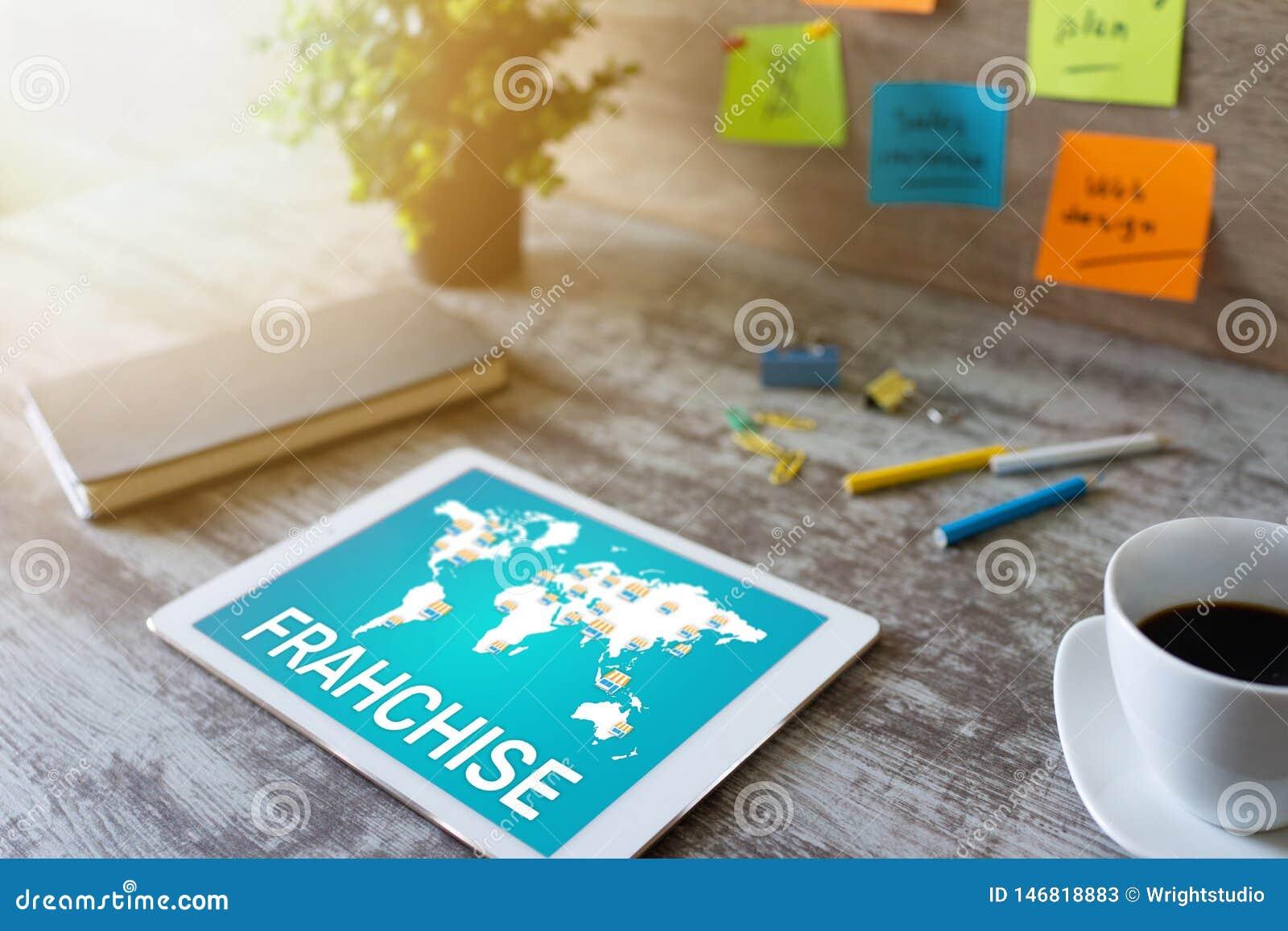 Concessie bedrijfsmodel en marketing strategieconcept