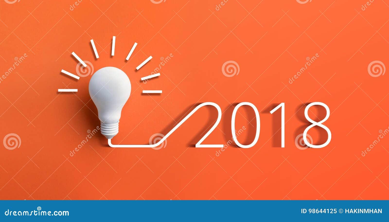 Concetti 2018 di ispirazione di creatività con la lampadina