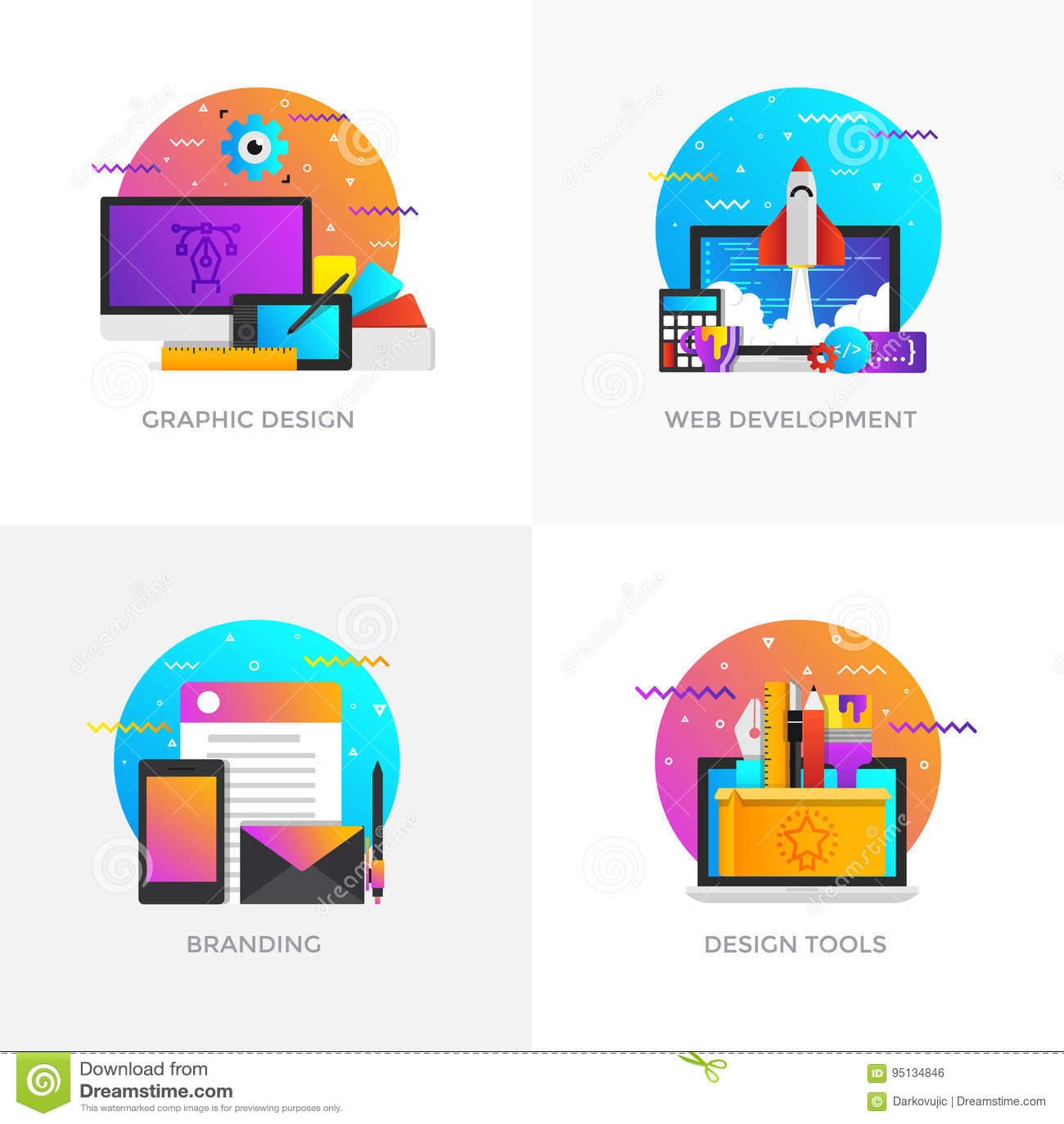 Concetti progetto piani - progettazione grafica, sviluppo Web, Brandi