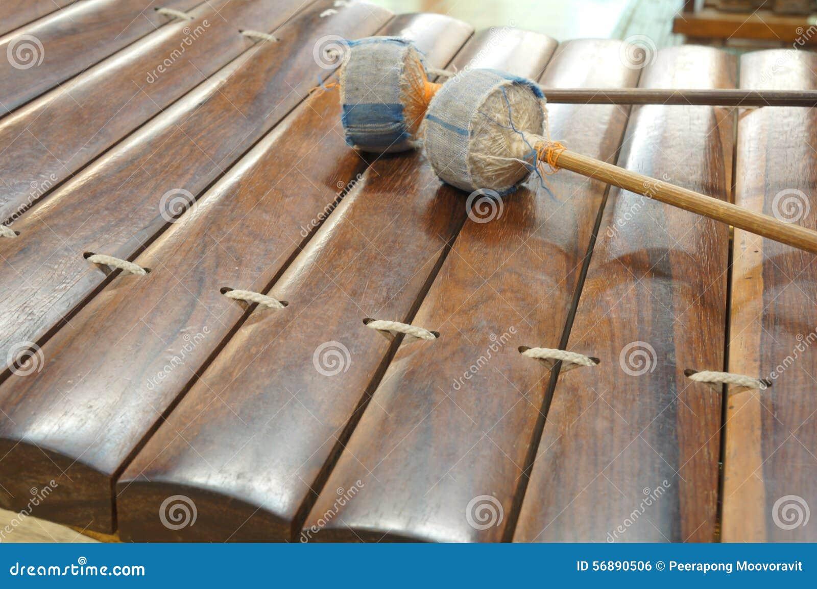 Concetto antico nazionale tailandese di ranard dello strumento di musica