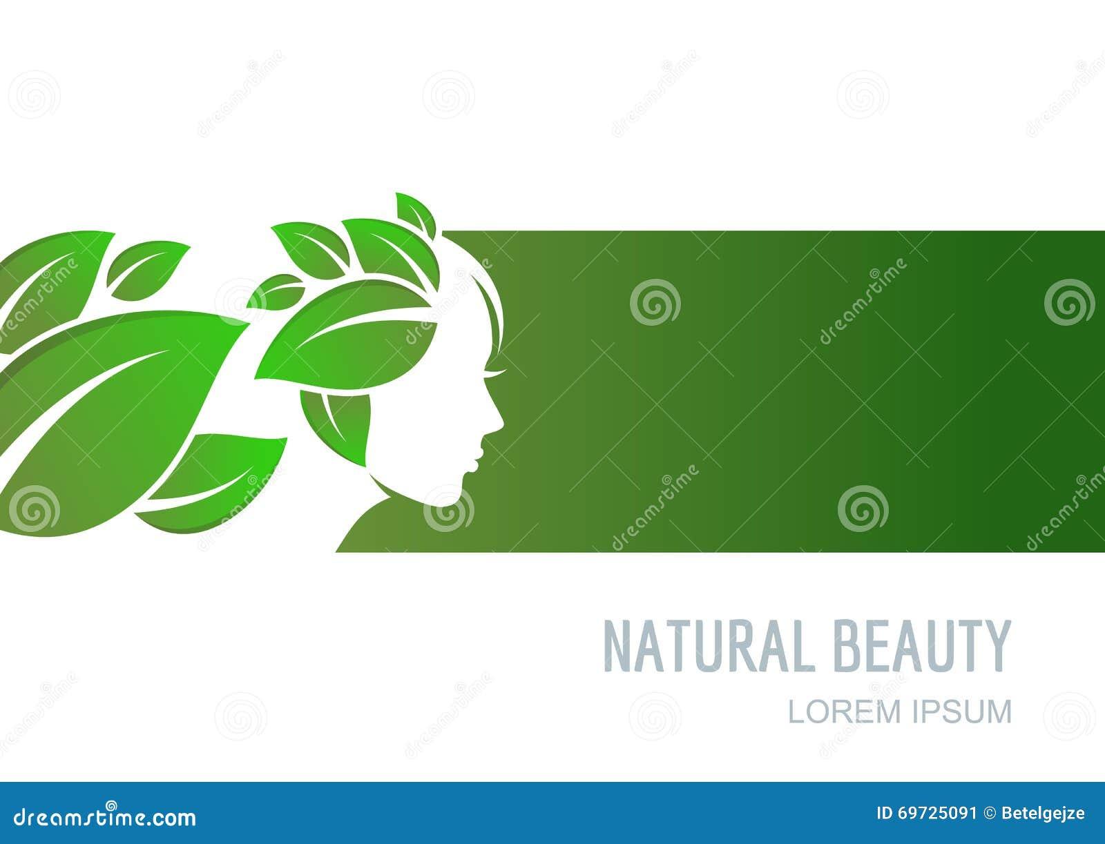 Concetto astratto per il salone di bellezza, cosmetici, stazione termale, healtcare naturale