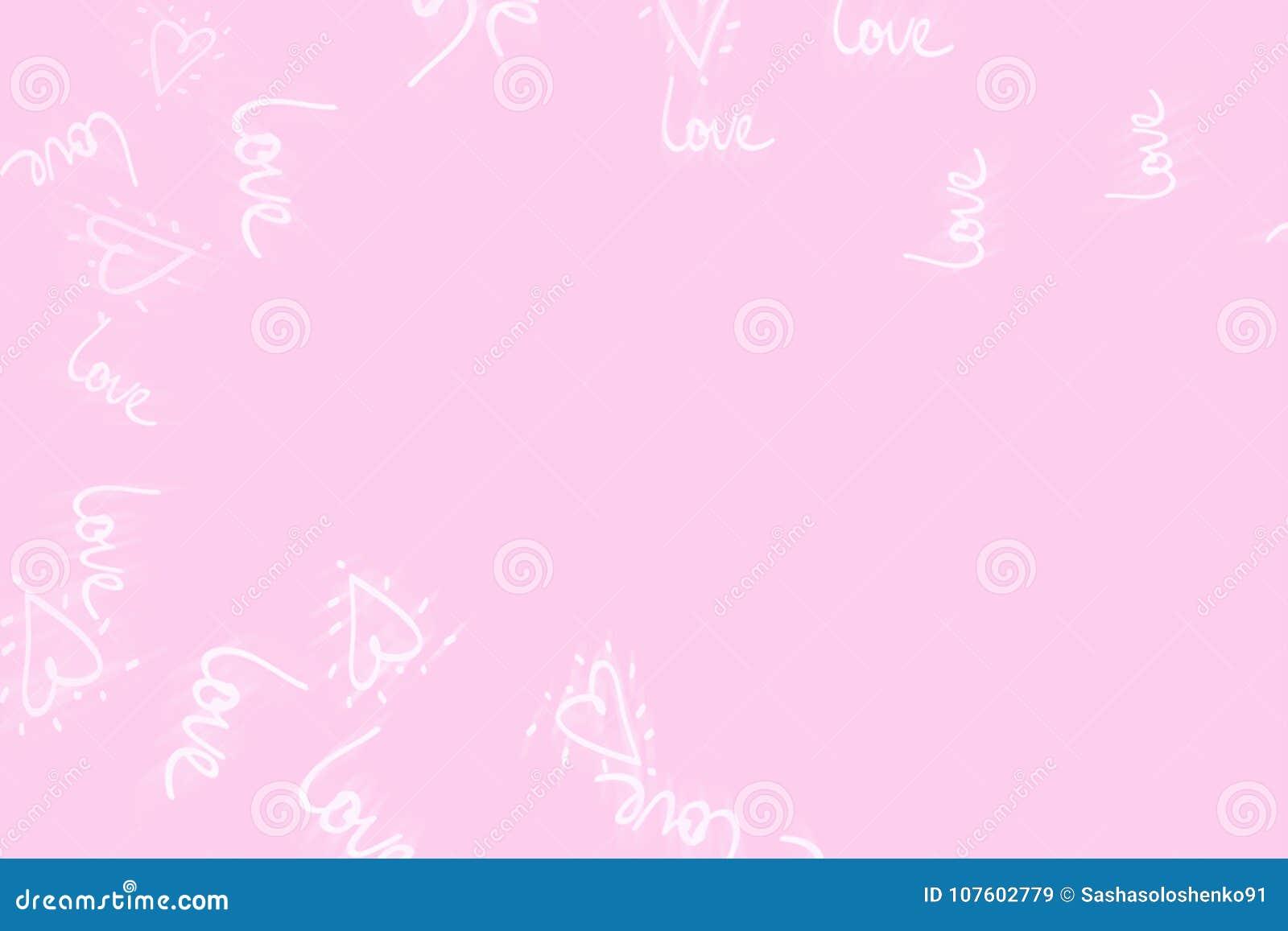 Concetto astratto rosa del fondo del giorno del ` s del biglietto di S. Valentino