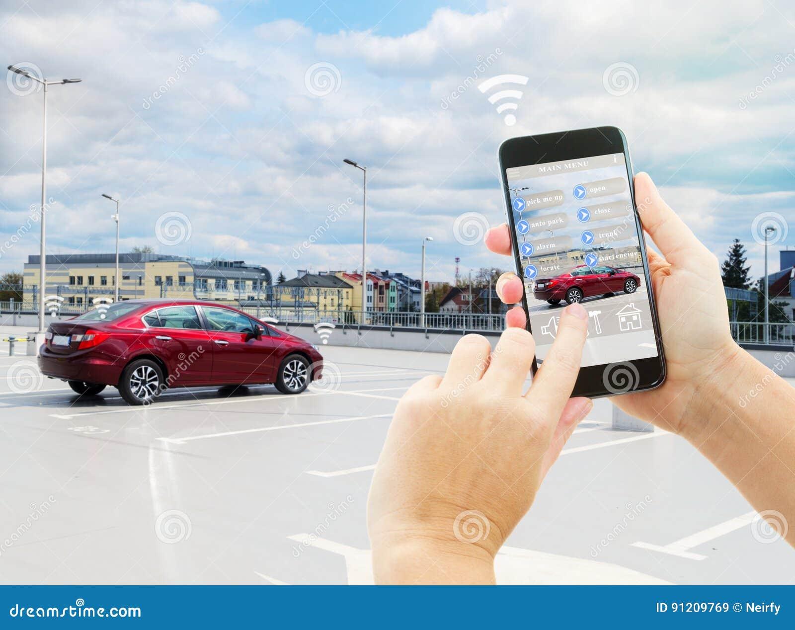 Concetto automatico di parcheggio