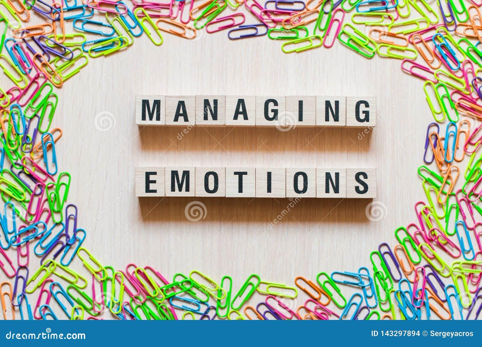Concetto in carico di parole di emozioni