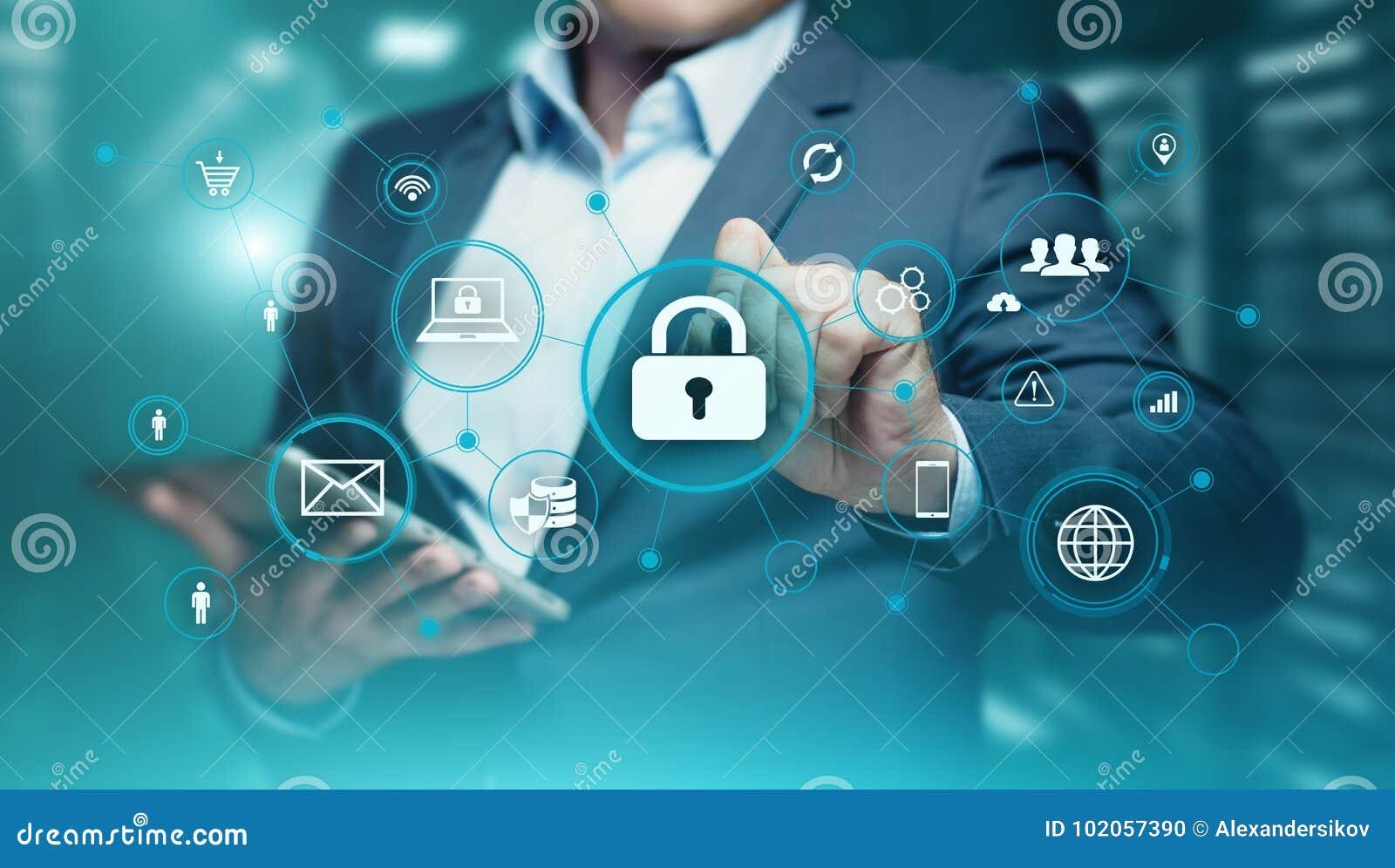 Concetto cyber di segretezza di tecnologia di affari di protezione dei dati di sicurezza